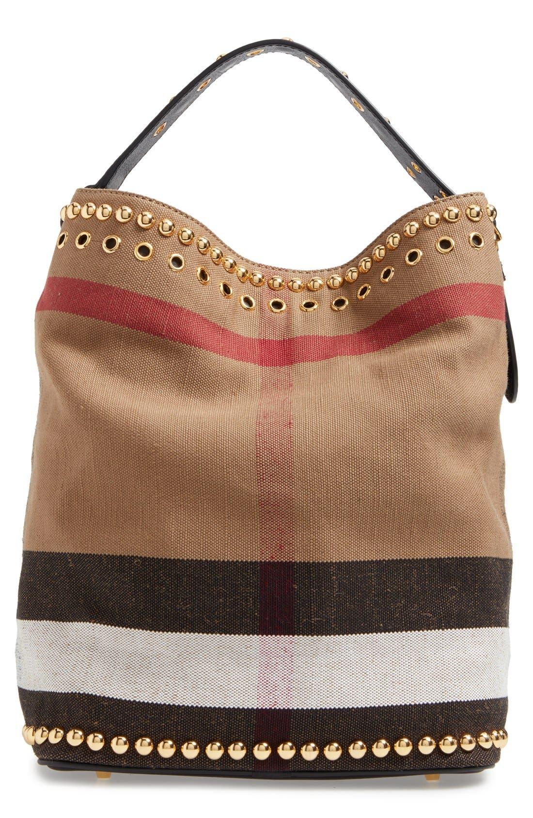 Alternate Image 2  - Burberry Medium Ashby Studded Canvas Bucket Bag