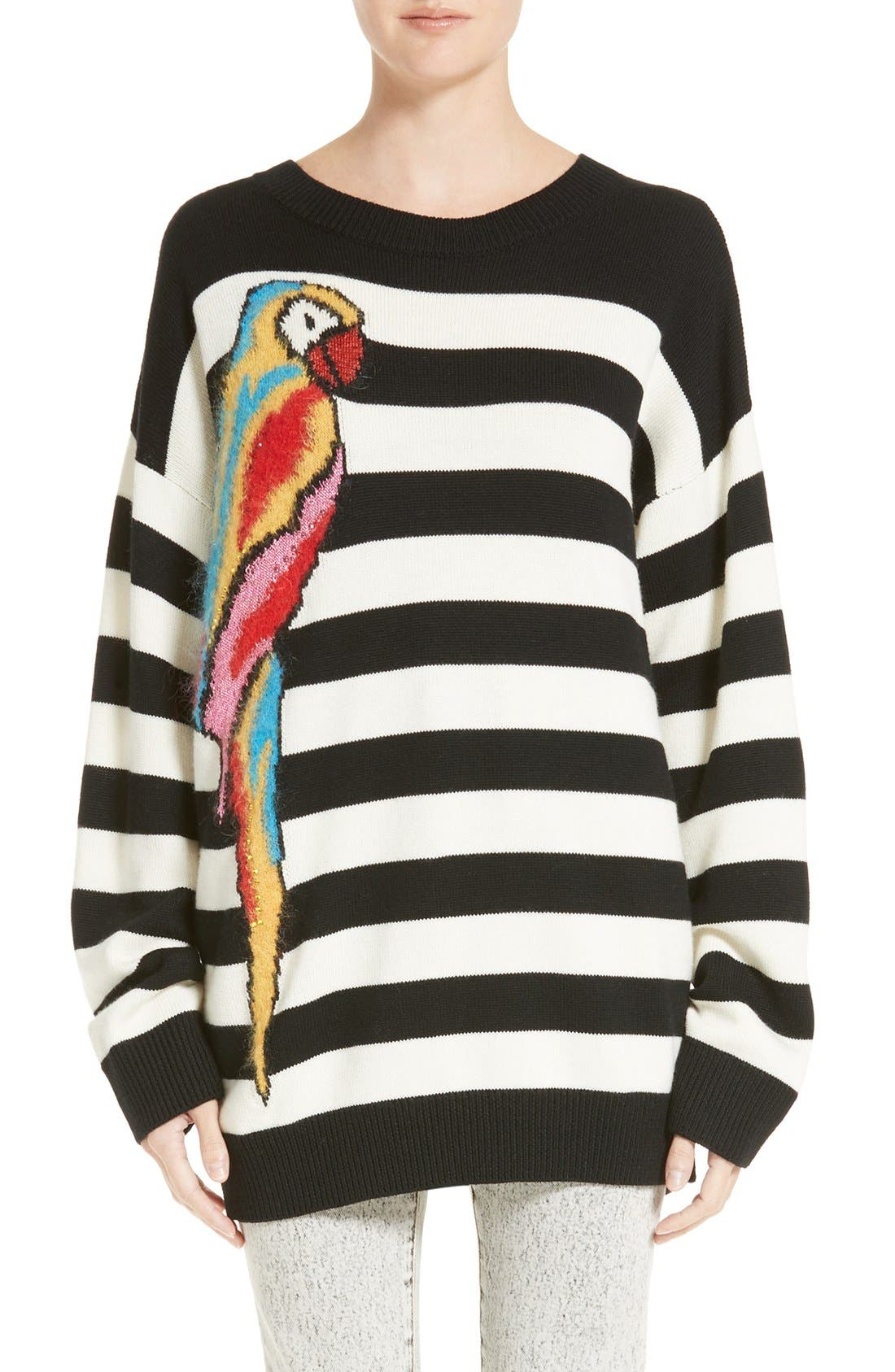 Alternate Image 1 Selected - MARC JACOBS Parrot Jacquard Sweater