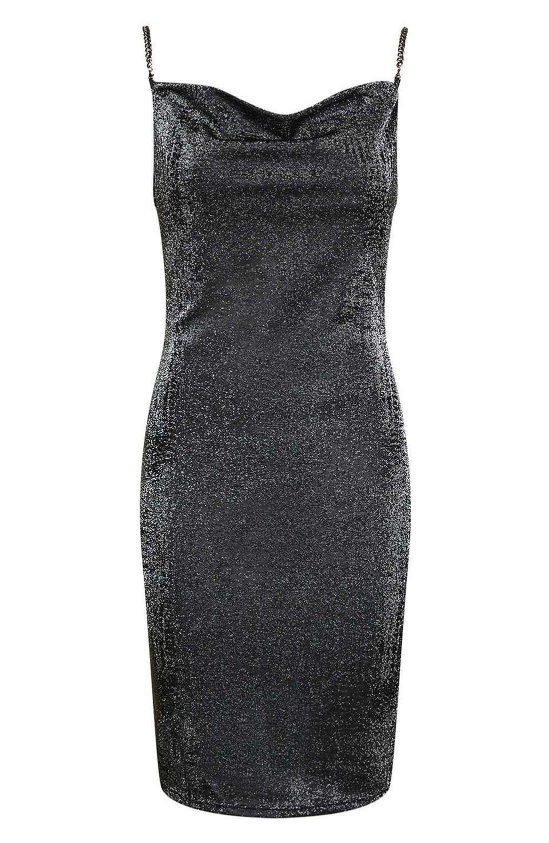 Alternate Image 4  - Topshop Sparkle Body-Con Dress