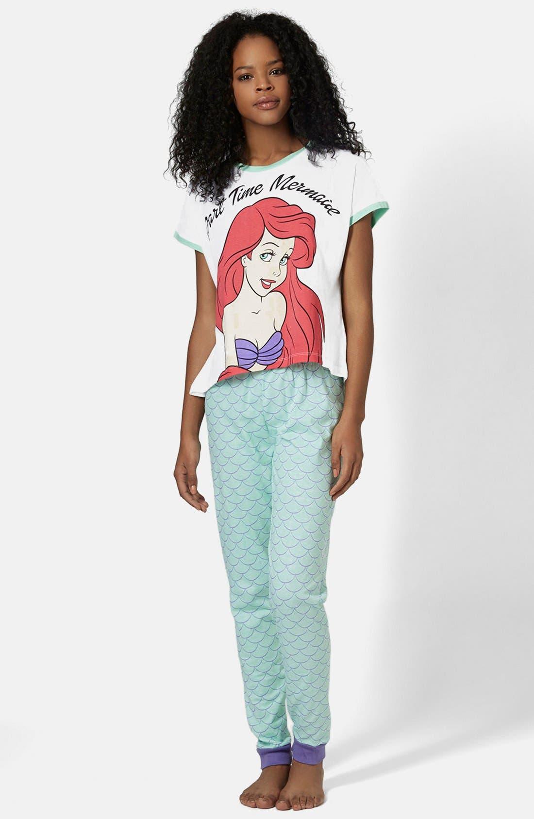 Alternate Image 1 Selected - Topshop Little Mermaid Pajama Set
