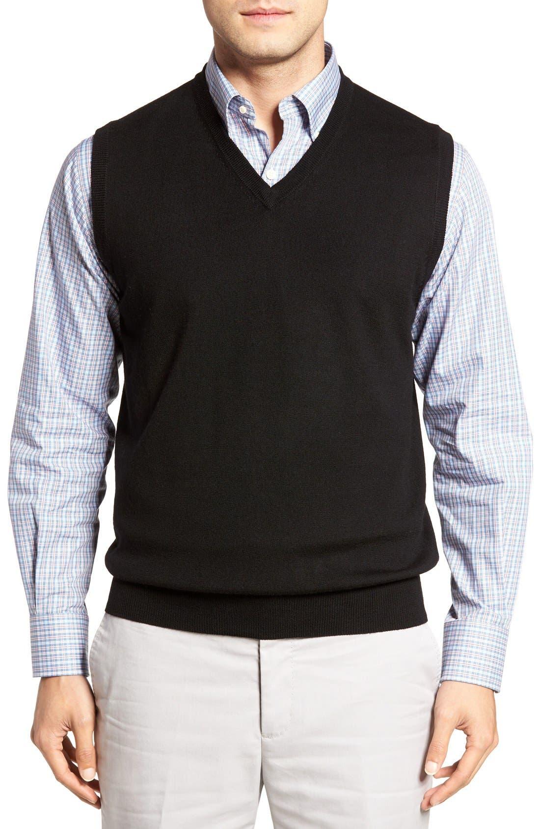 Peter Millar Merino Wool V-Neck Vest