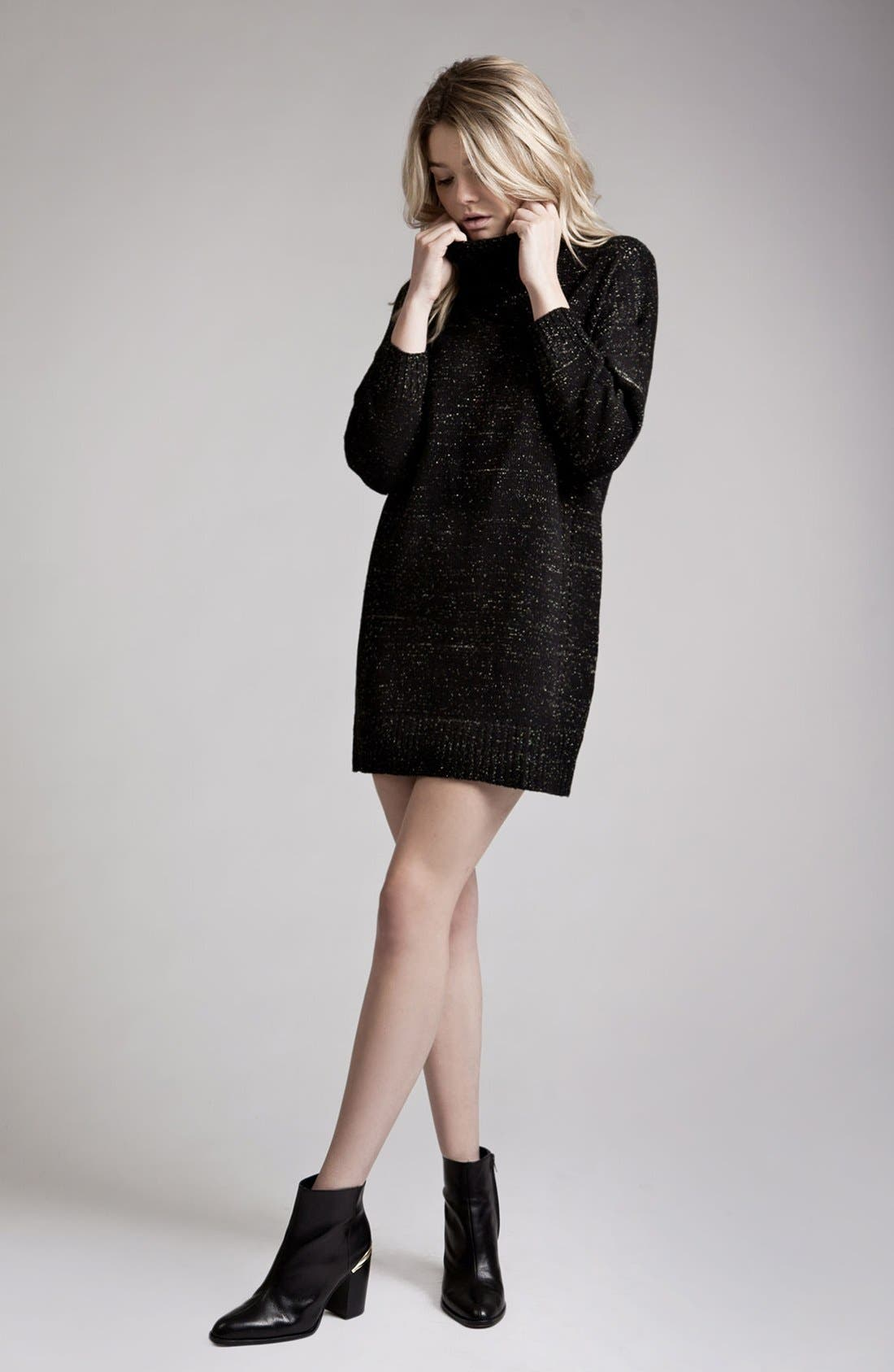 Alternate Image 2  - MOON RIVER Turtleneck Sweater Dress