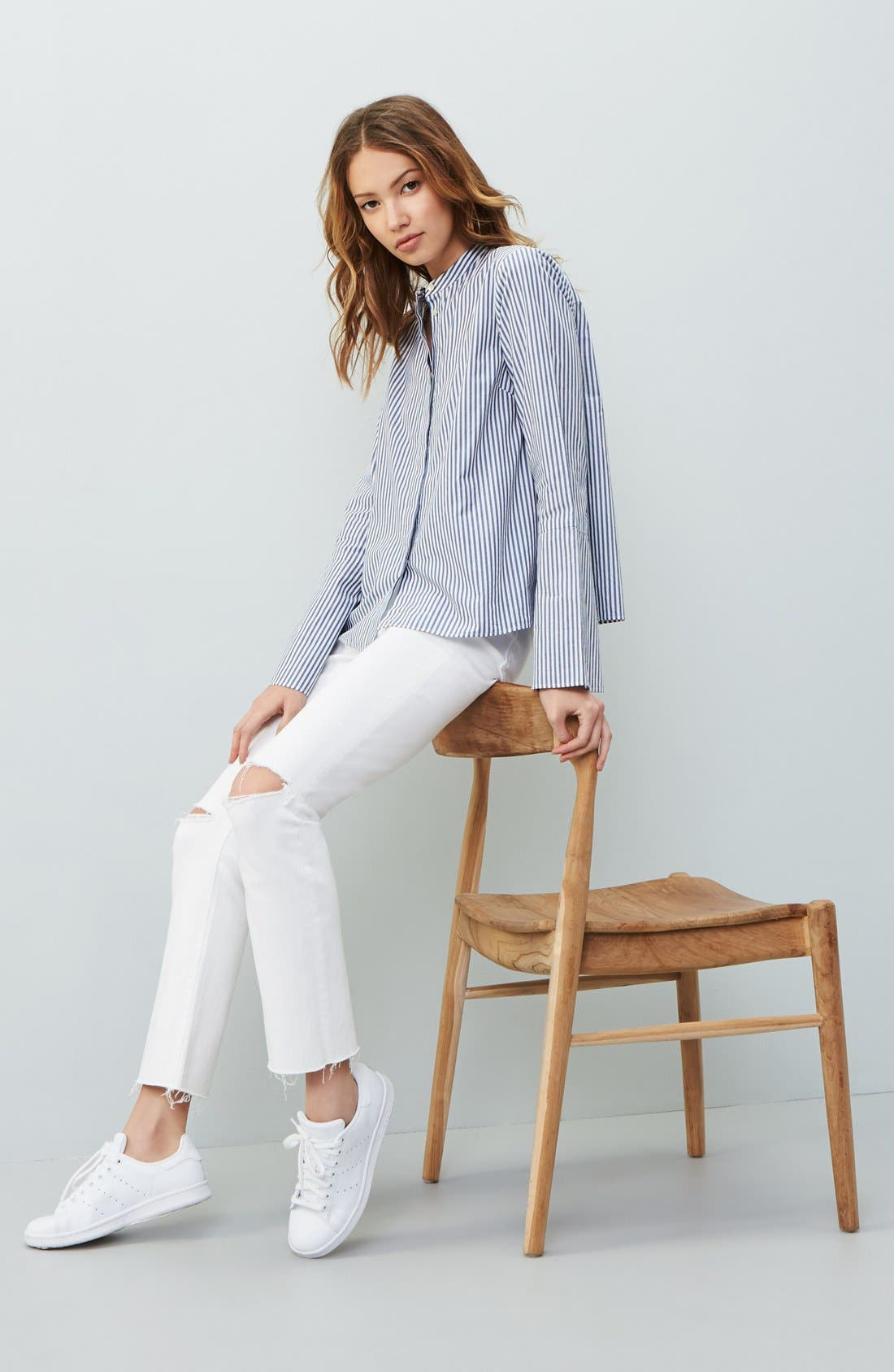 Madewell Blouse & Jeans Outfit with Accessories