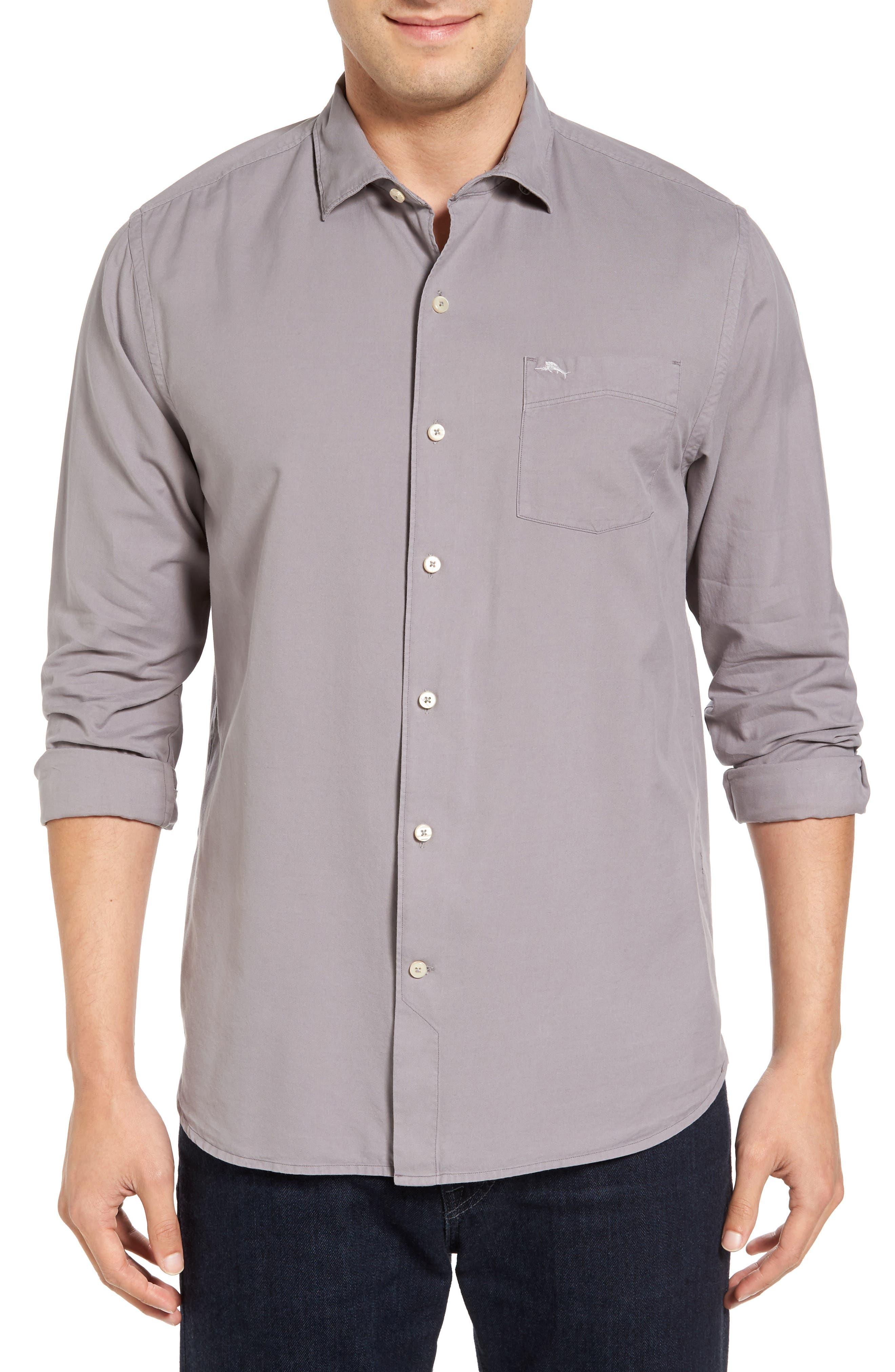 Tommy Bahama 'Island Twill' Sport Shirt (Big & Tall)