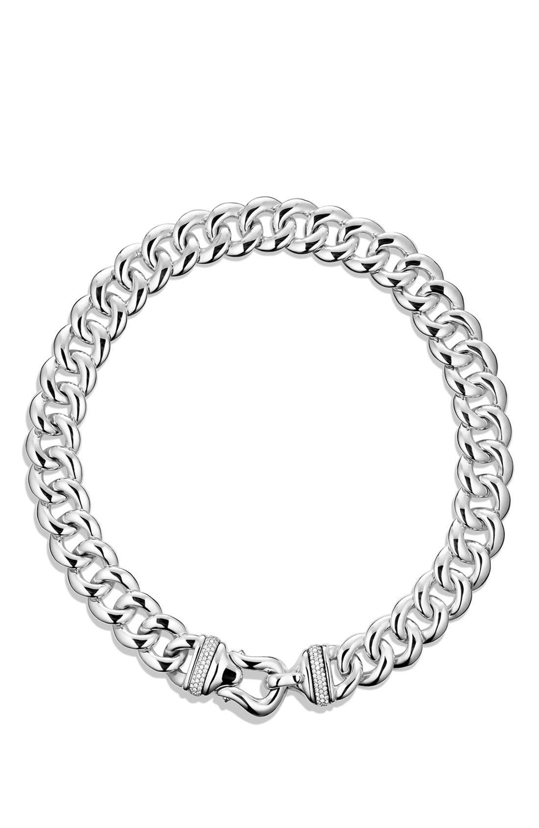 Alternate Image 1 Selected - David Yurman 'Buckle' Chain Necklace with Diamonds