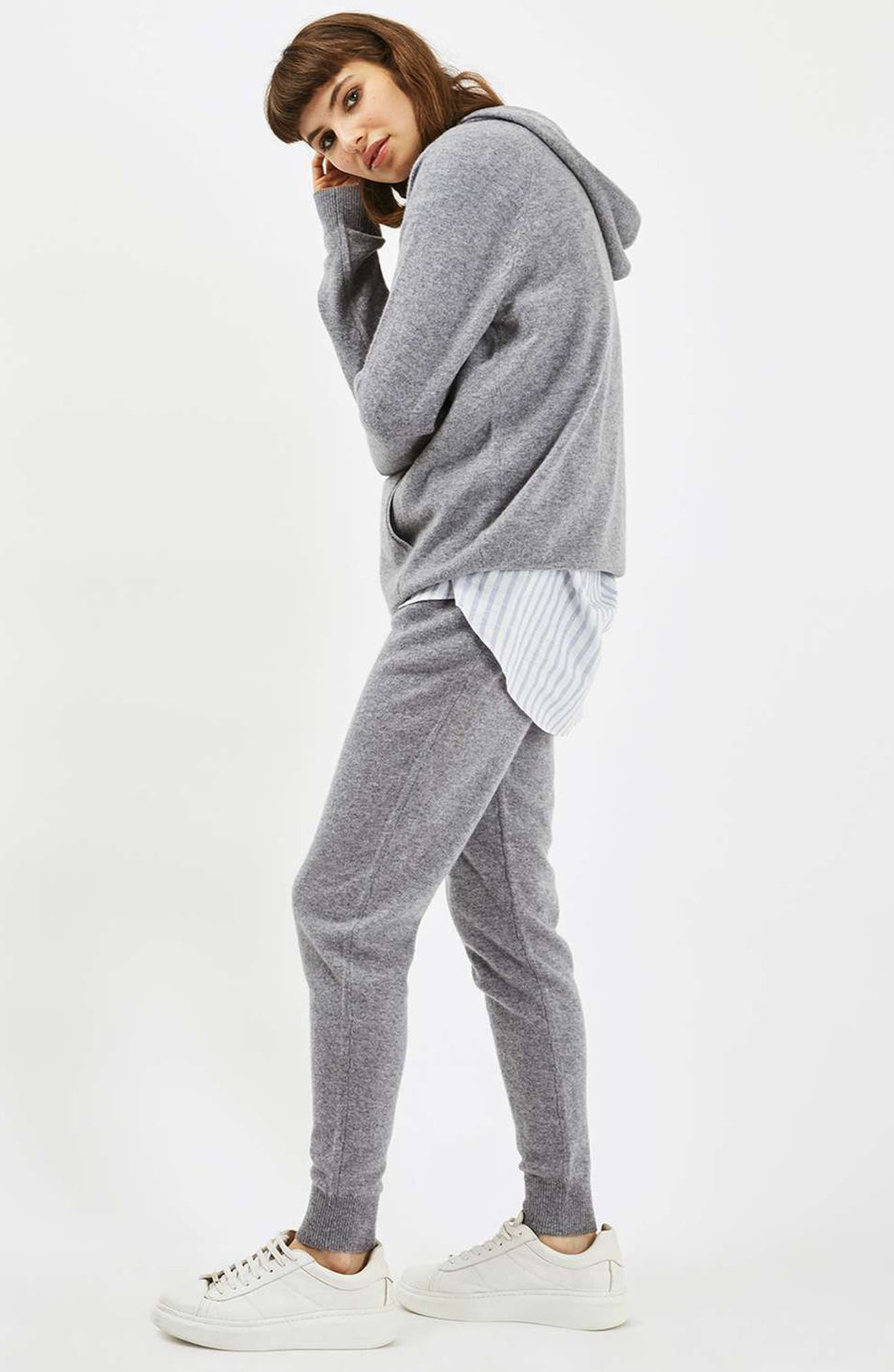 Alternate Image 2  - Topshop Luxe Cashmere Hoodie