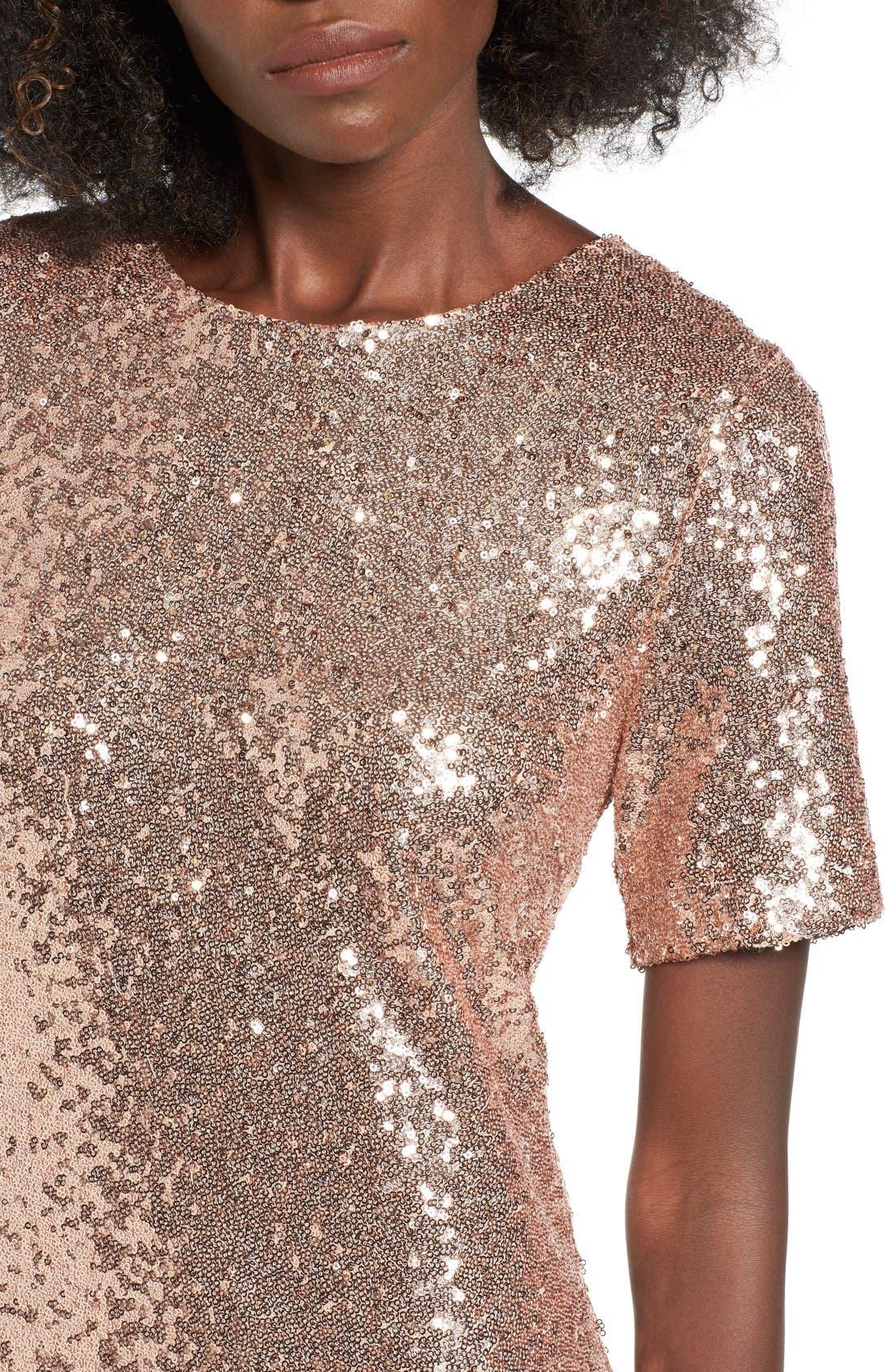 Alternate Image 4  - Soprano Sequin T-Shirt Dress