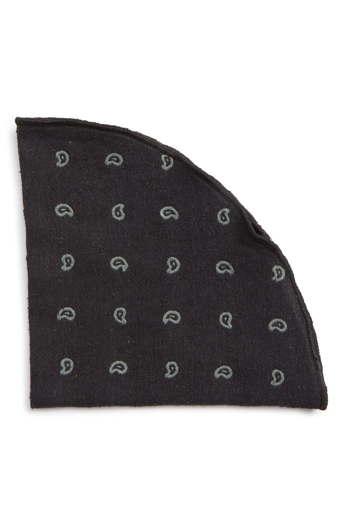 ALEXANDER OLCH Paisley Silk Pocket Round