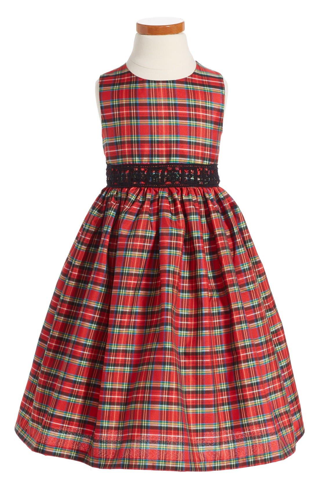 Alternate Image 2  - Pippa & Julie Plaid Dress & Velvet Jacket (Toddler Girls, Little Girls & Big Girls)