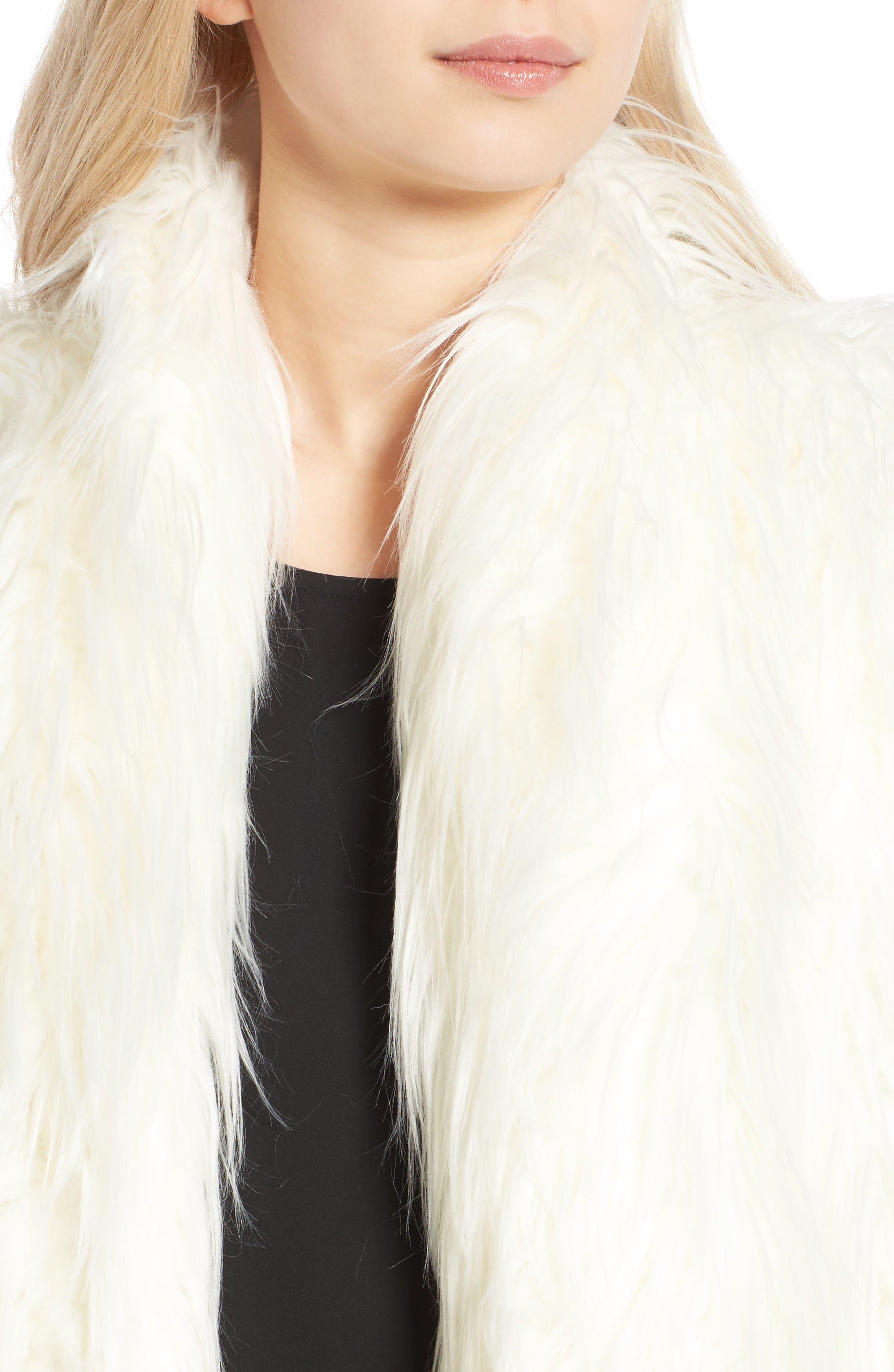 Alternate Image 4  - Olivia Palermo + Chelsea28 Open Front Faux Fur Jacket