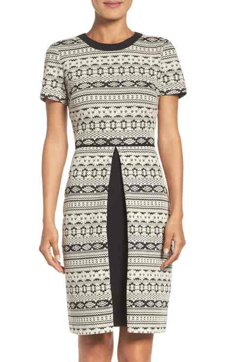 Maggy London Fit   Flare Sweater Dress