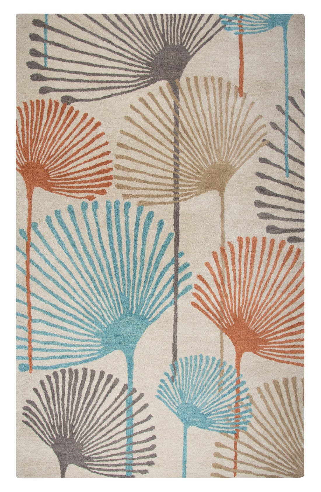 Rizzy Home Palm Fan Hand Tufted Wool Rug