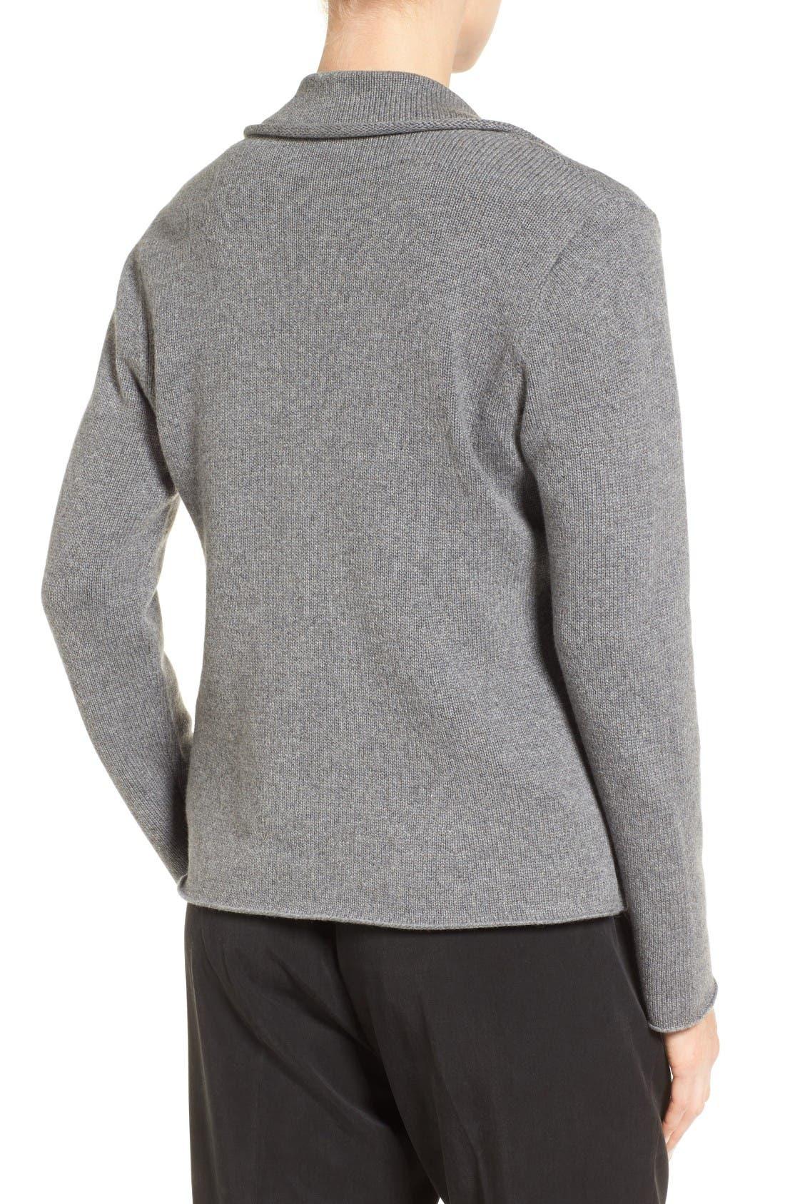 Alternate Image 2  - Eileen Fisher Recycled Cashmere & Merino Wool Sweater Jacket