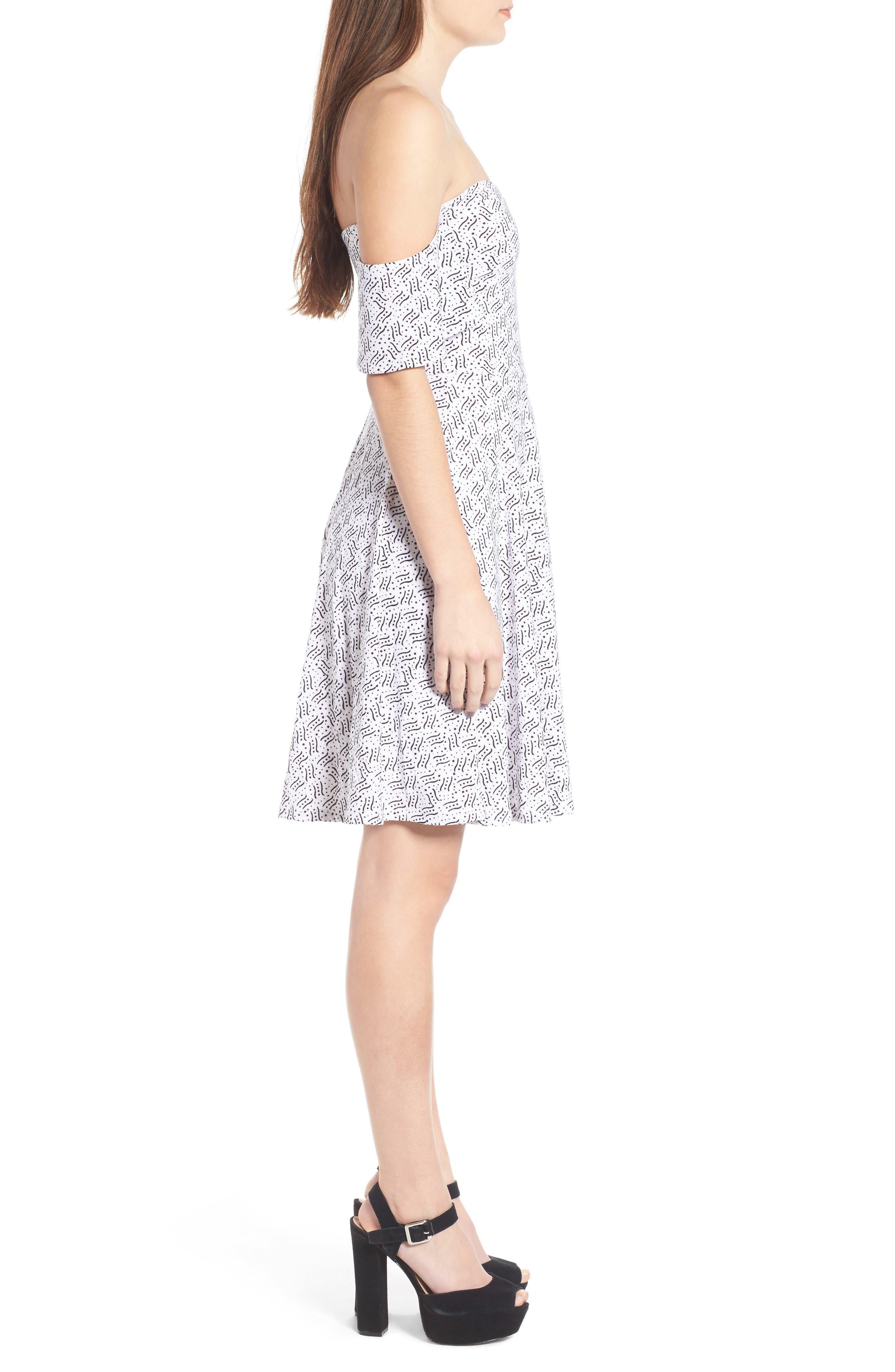 Alternate Image 3  - Leith Off the Shoulder Fit & Flare Dress