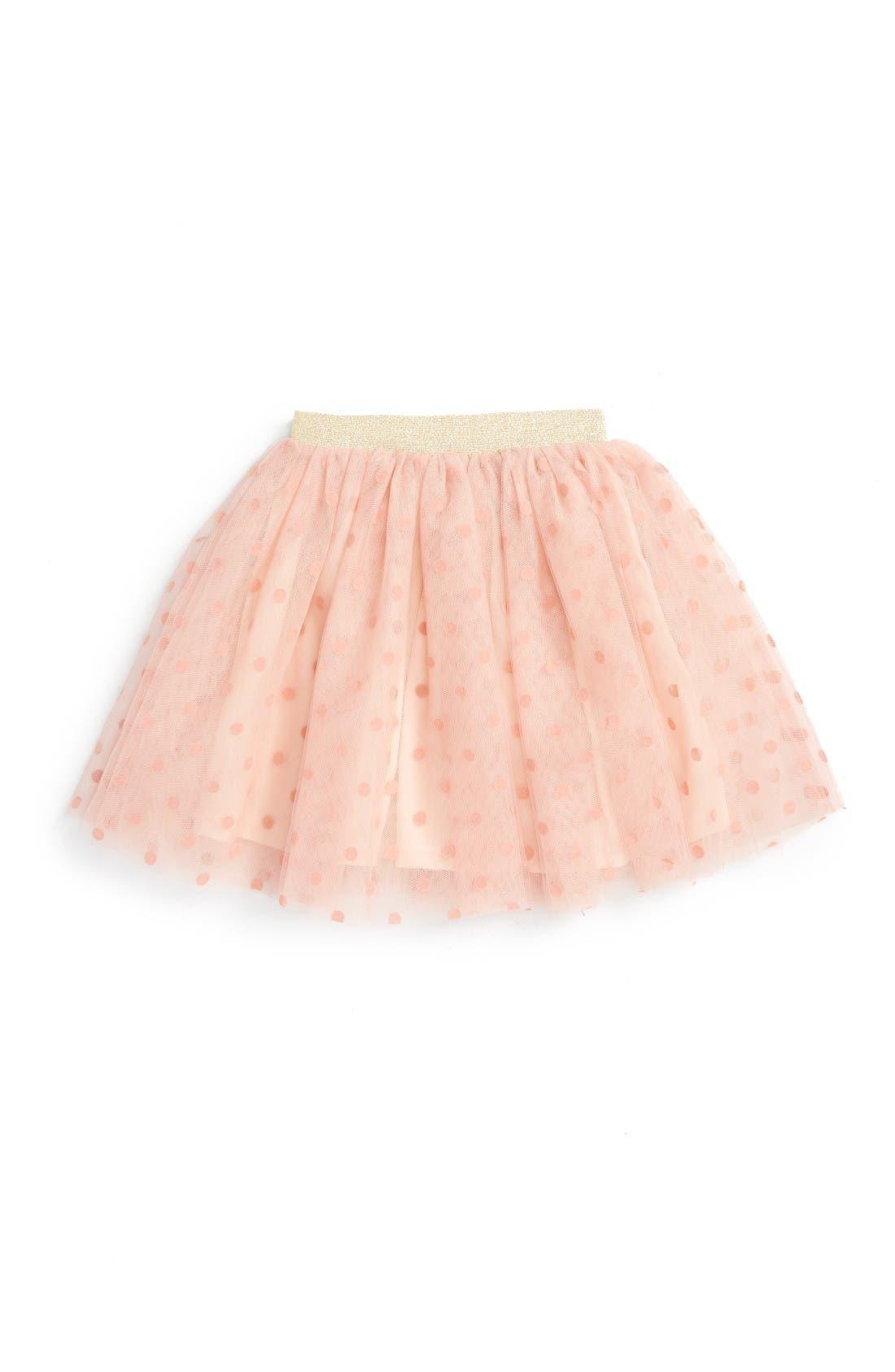 Alternate Image 1 Selected - Truly Me Polka Dot Tutu Skirt (Toddler Girls & Little Girls)