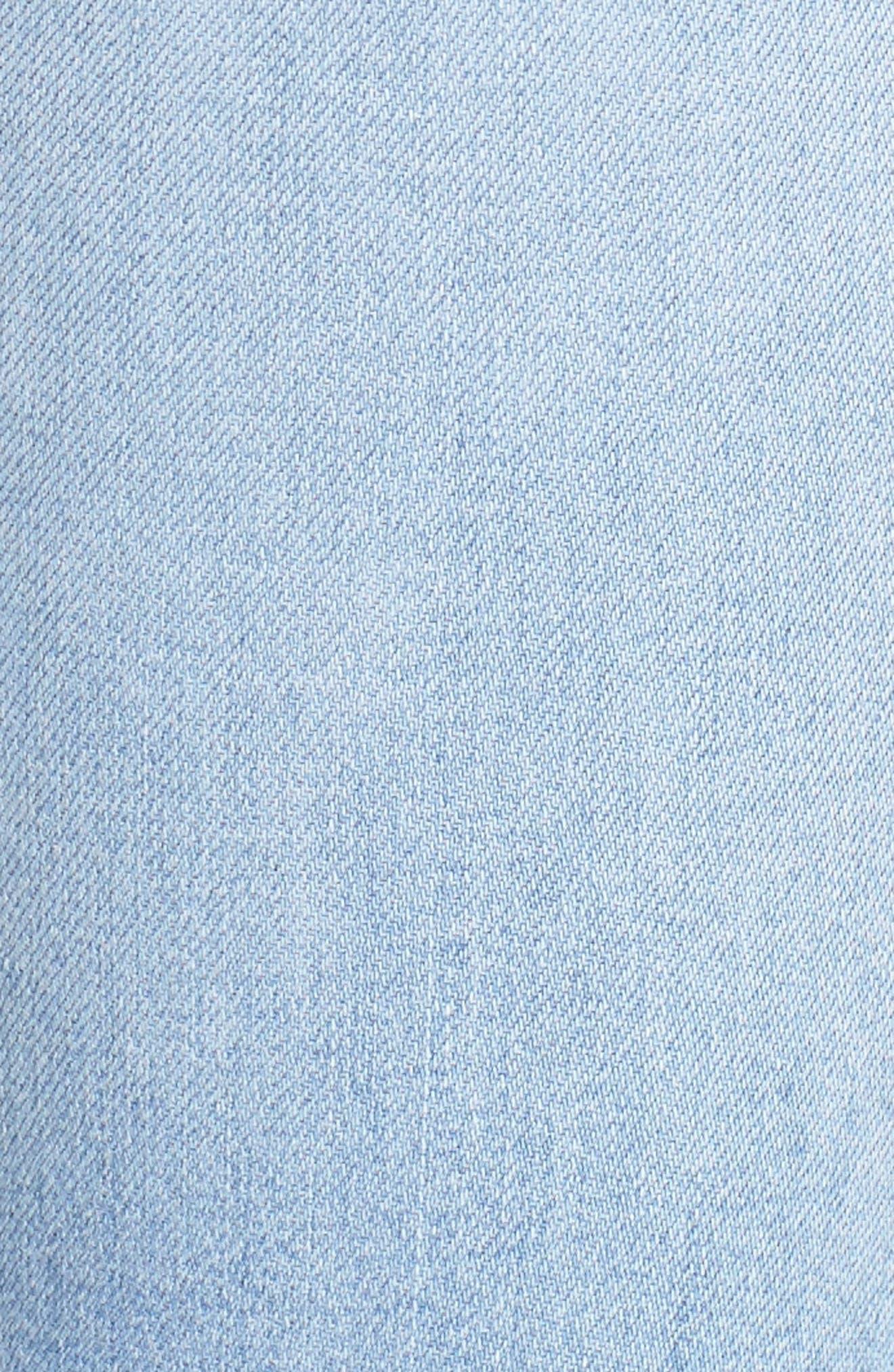 Alternate Image 5  - Hudson Jeans Mia Patchwork Flare Jeans (Royal Delta)
