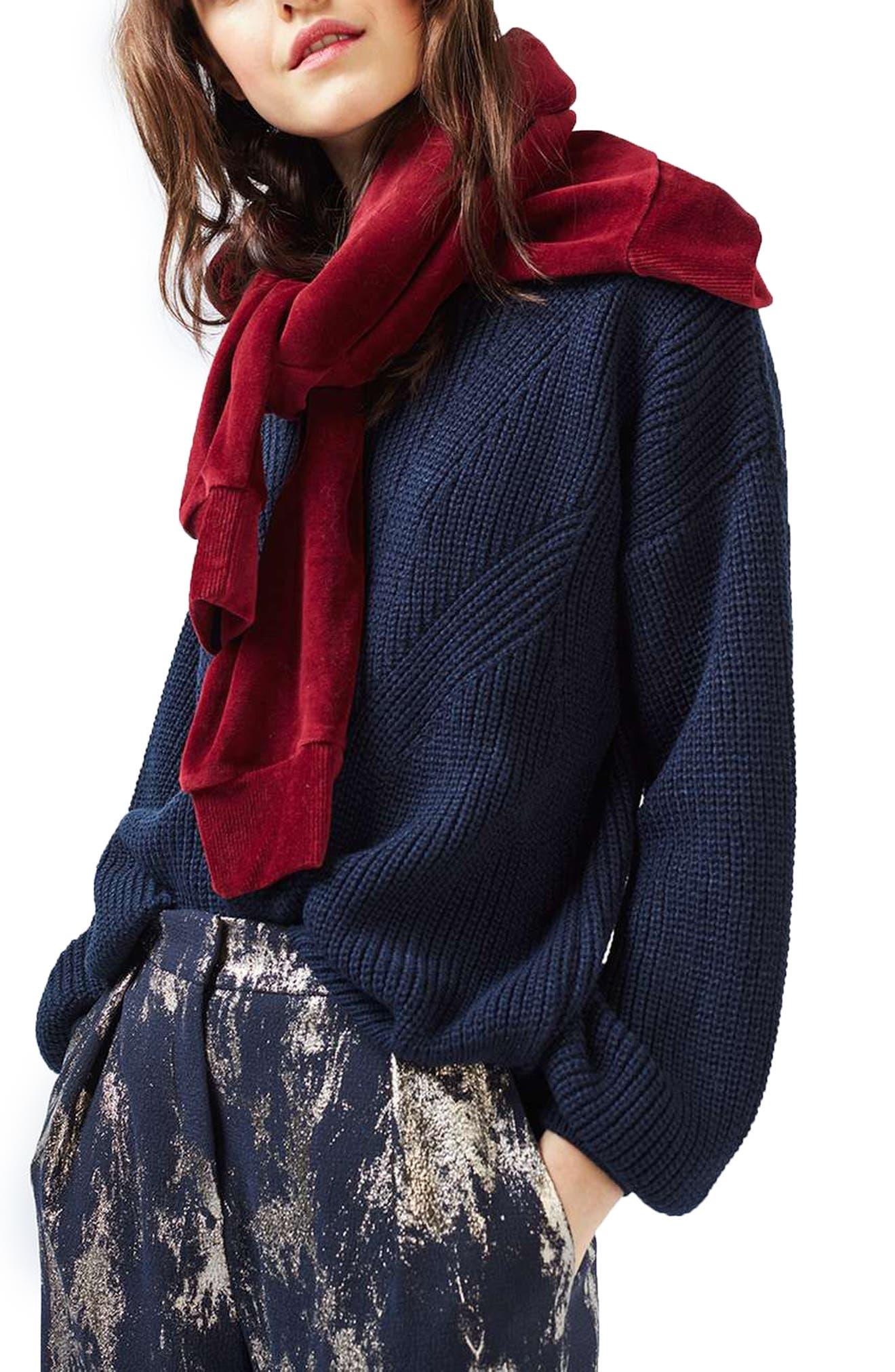 Alternate Image 1 Selected - Topshop Blouson Sleeve Sweater