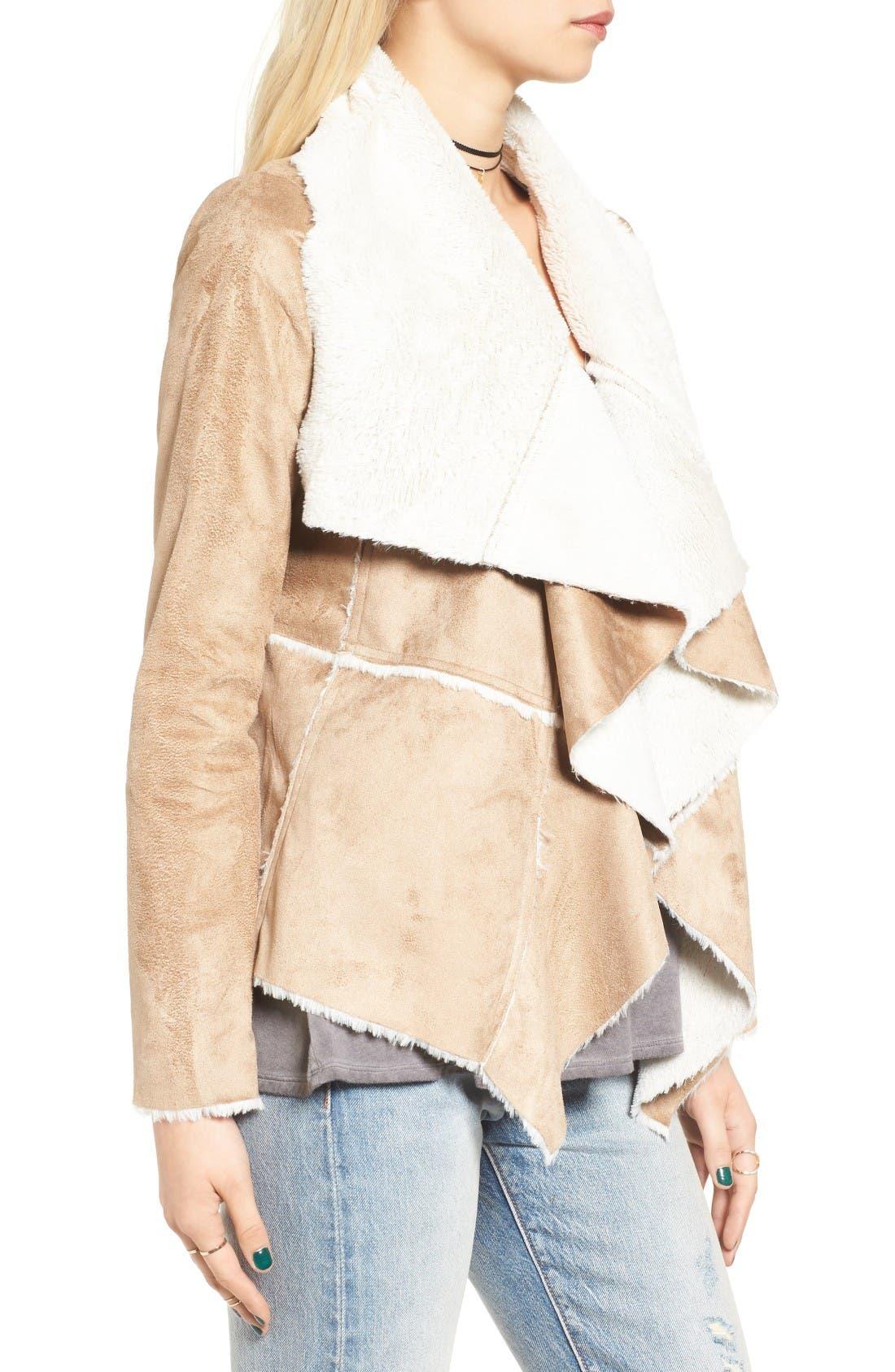 Alternate Image 3  - Soprano Faux Shearling Moto Jacket