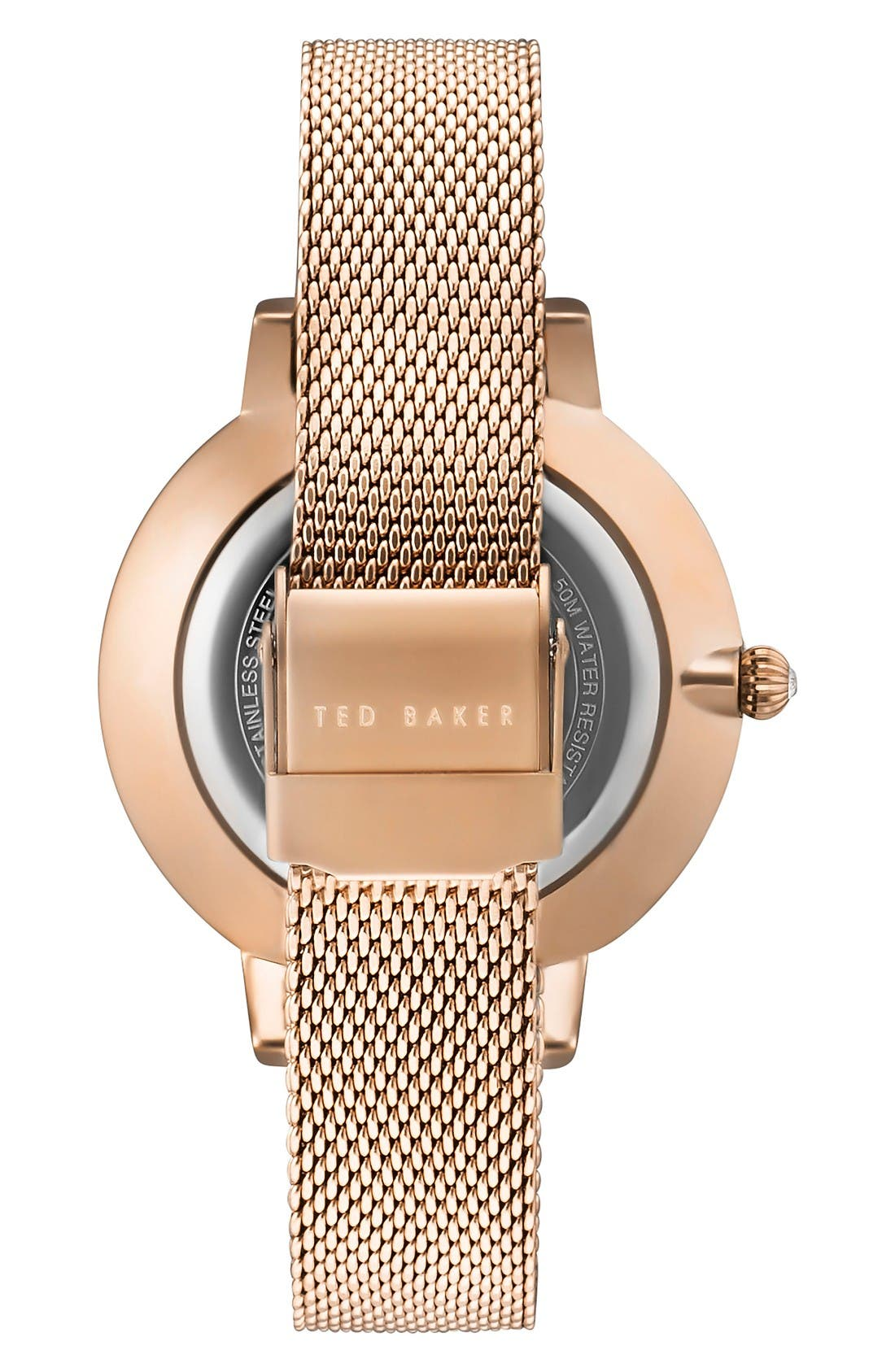 Alternate Image 2  - Ted Baker London Kate Round Mesh Strap Watch, 38mm