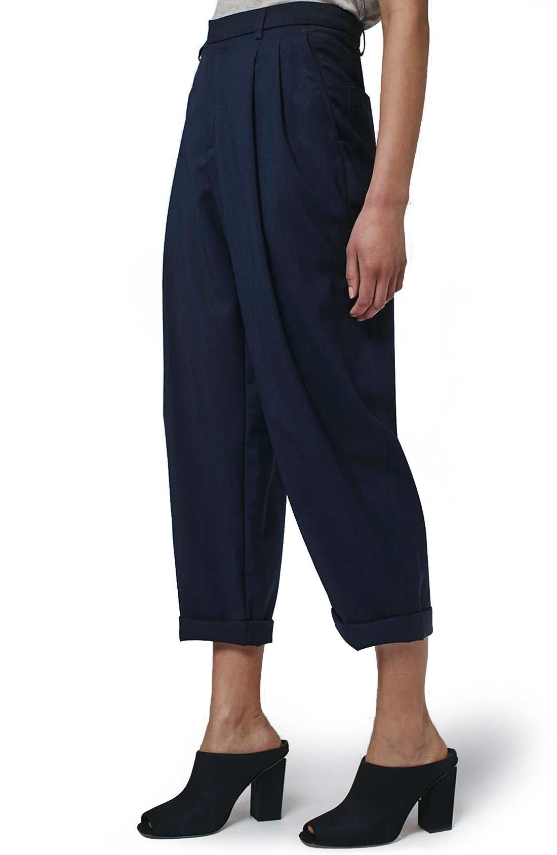Alternate Image 4  - Topshop Boutique Wool Trousers
