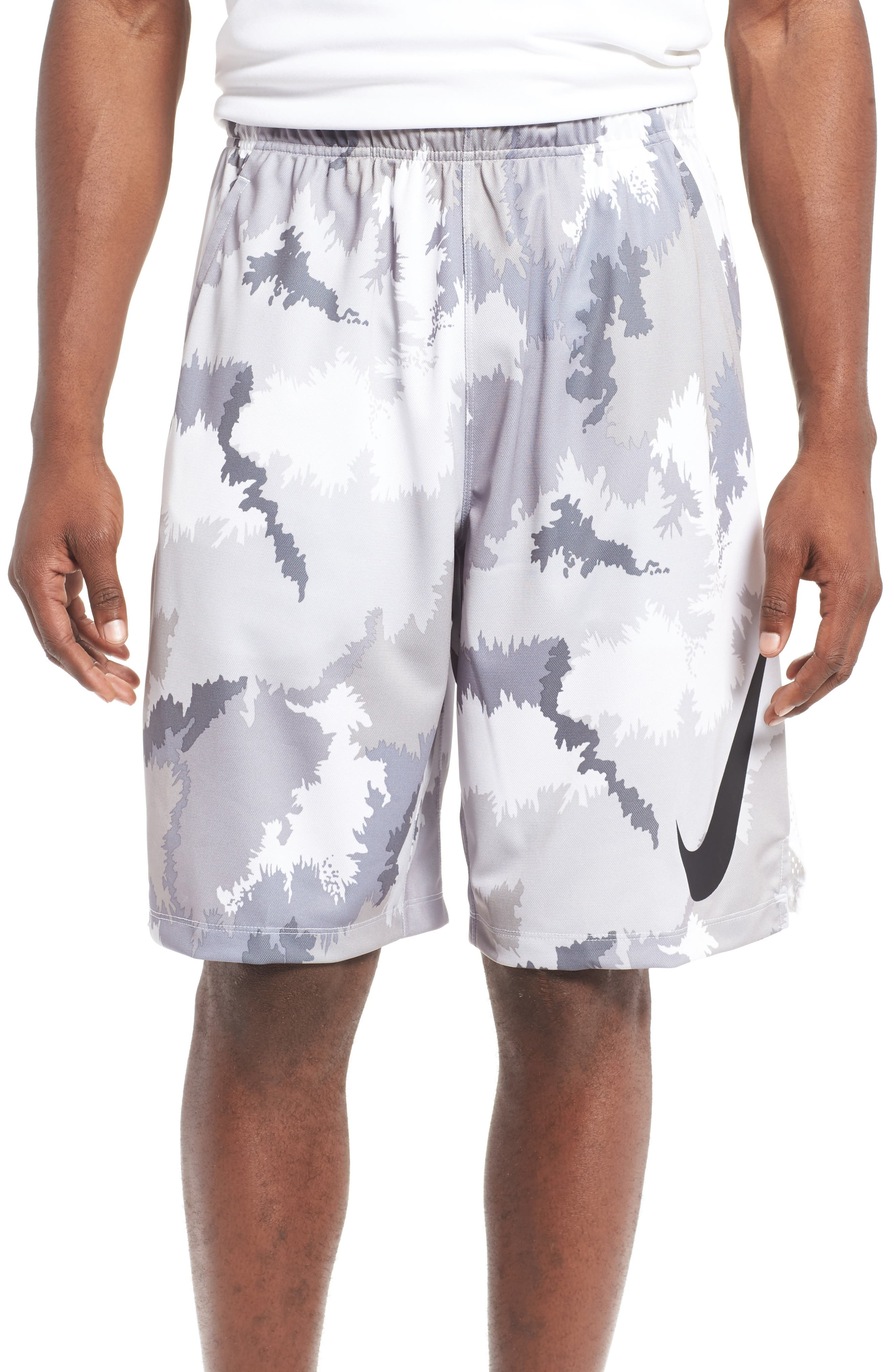 Alternate Image 1 Selected - Nike 'Hyperspeed Topo Buzz' Camo Print Dri-FIT Athletic Shorts