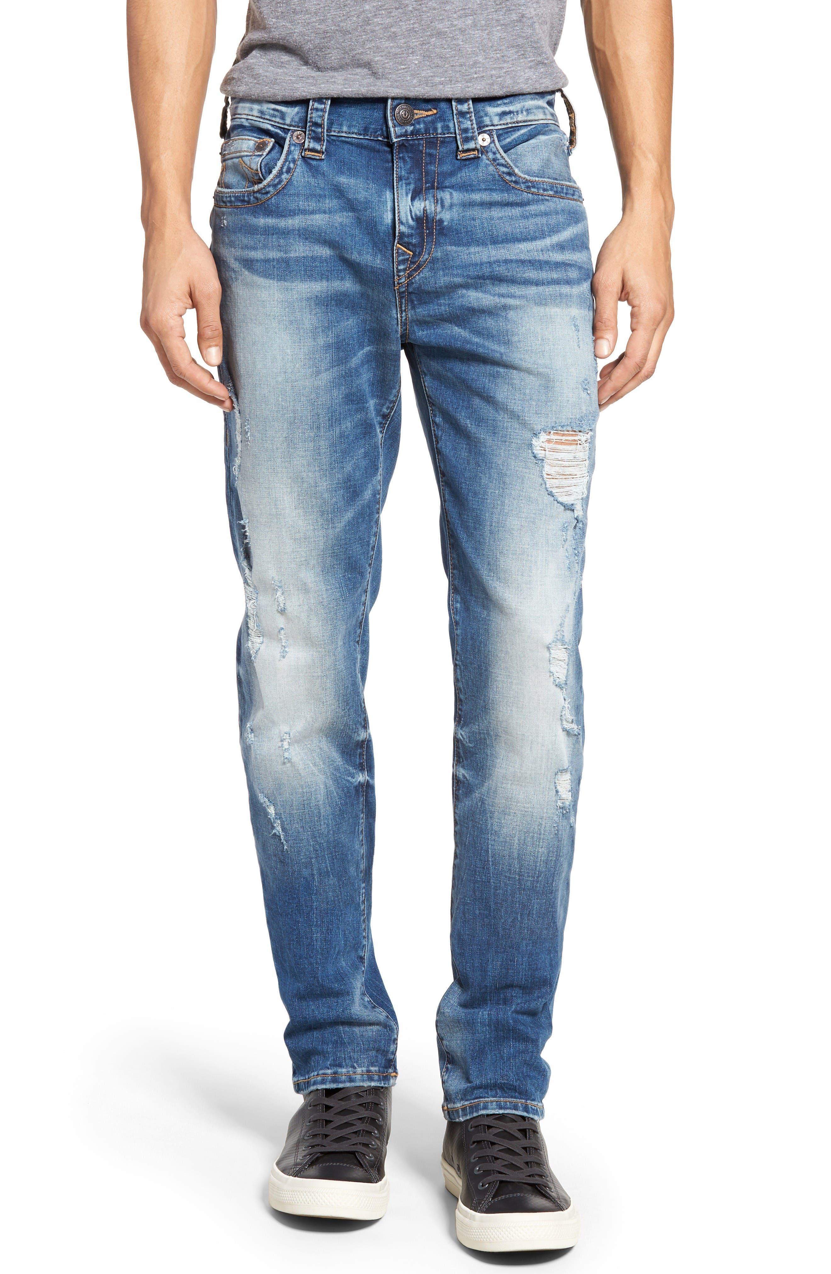 True Religion Brand Jeans Rocco Skinny Fit Jeans (DQFM Worn Rebellion) (Regular & Big)