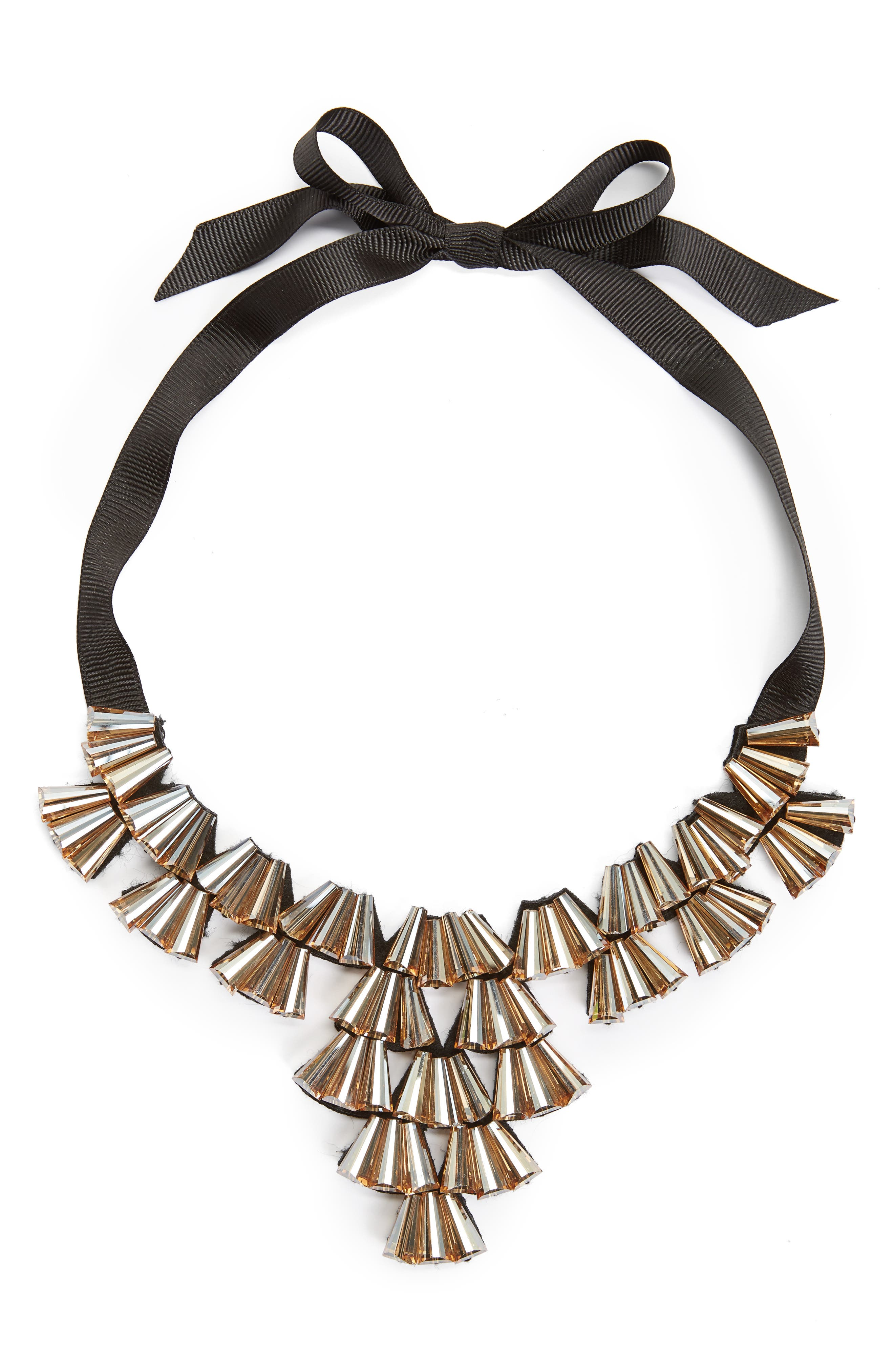 Alternate Image 1 Selected - Topshop Crystal Fan Collar Necklace