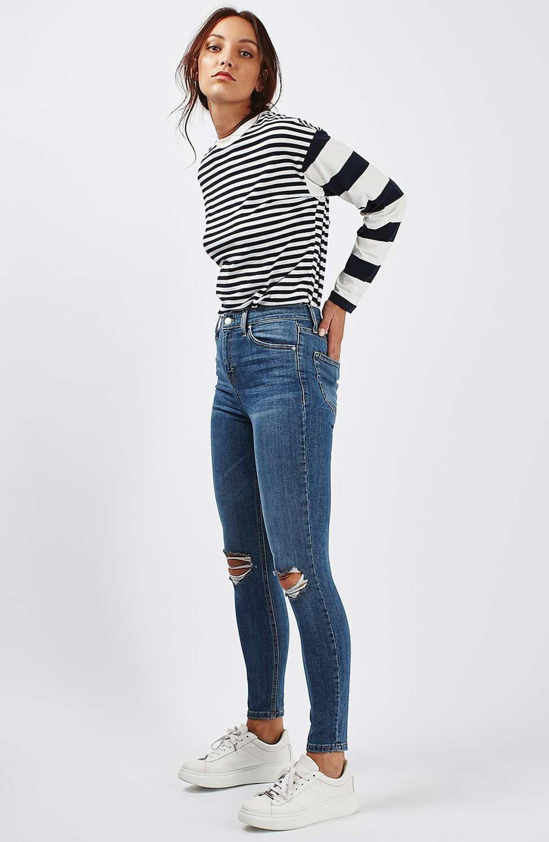 Alternate Image 2  - Topshop Moto Jamie Ripped High Waist Ankle Skinny Jeans