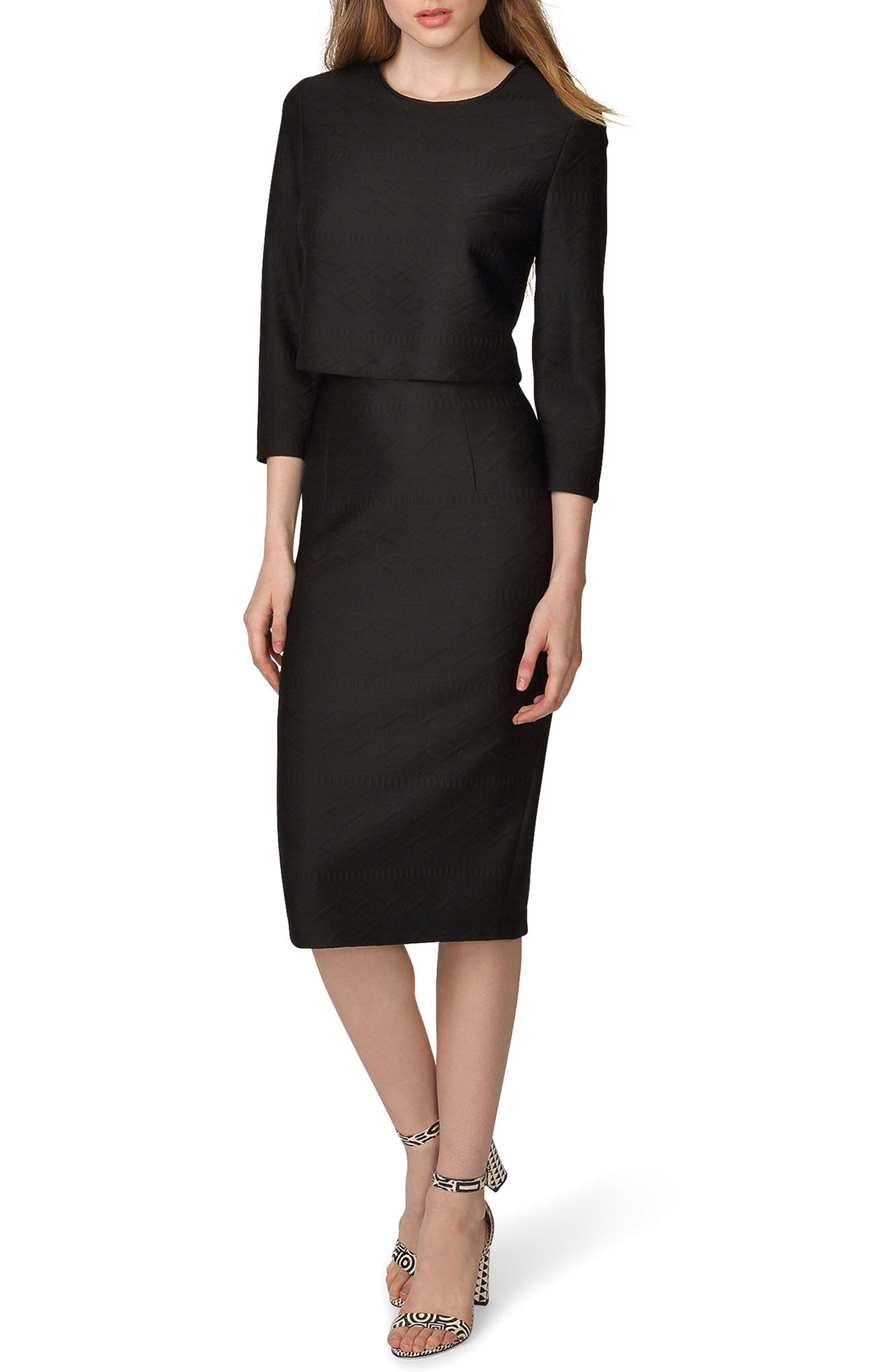 Alternate Image 1 Selected - Donna Morgan Jacquard Two-Piece Dress