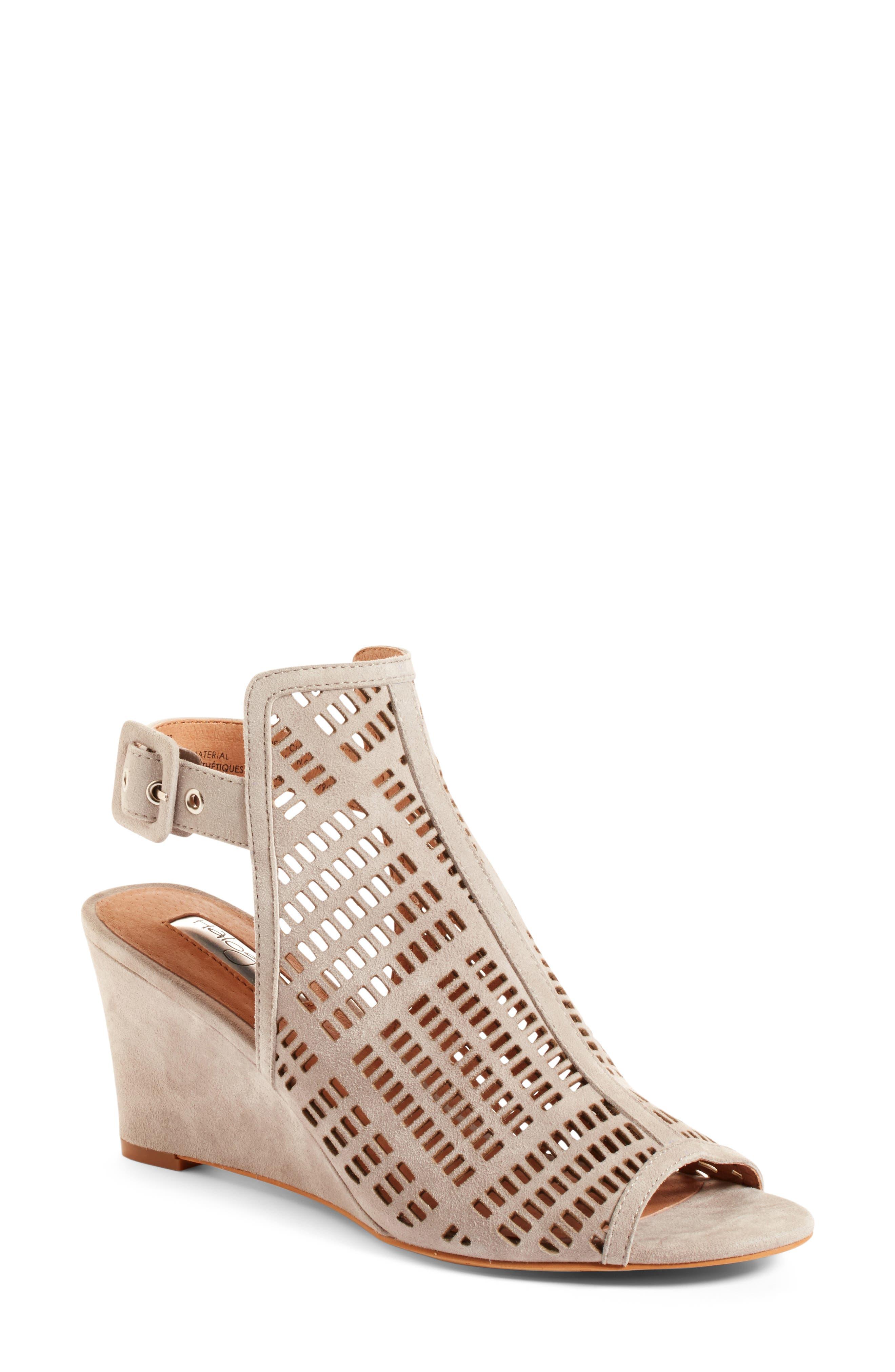 Alternate Image 1 Selected - Halogen® Rosina Laser Cut Wedge Sandal (Women)