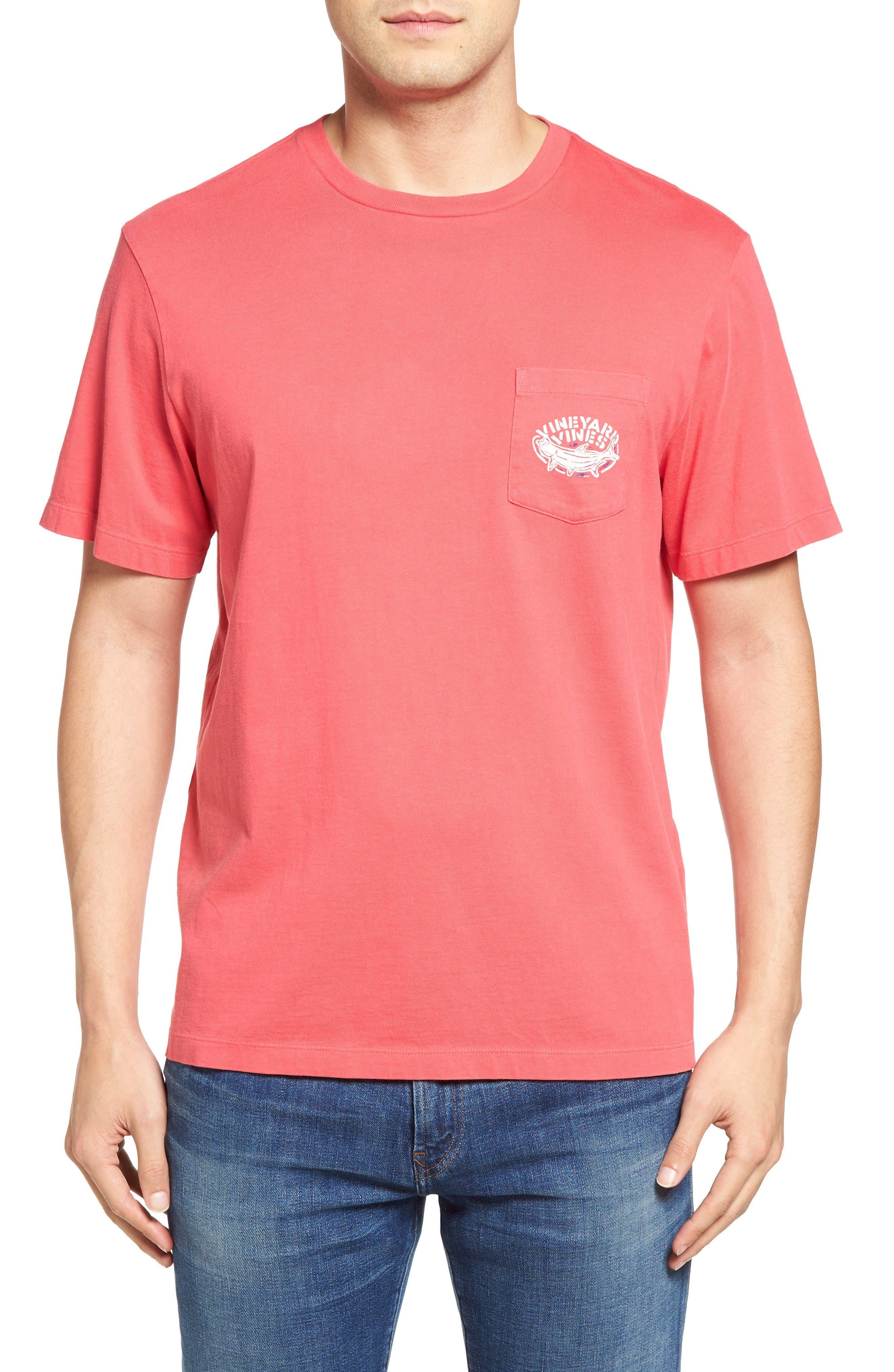 Alternate Image 2  - Vineyard Vines Stencil Tarpon Graphic Pocket T-Shirt