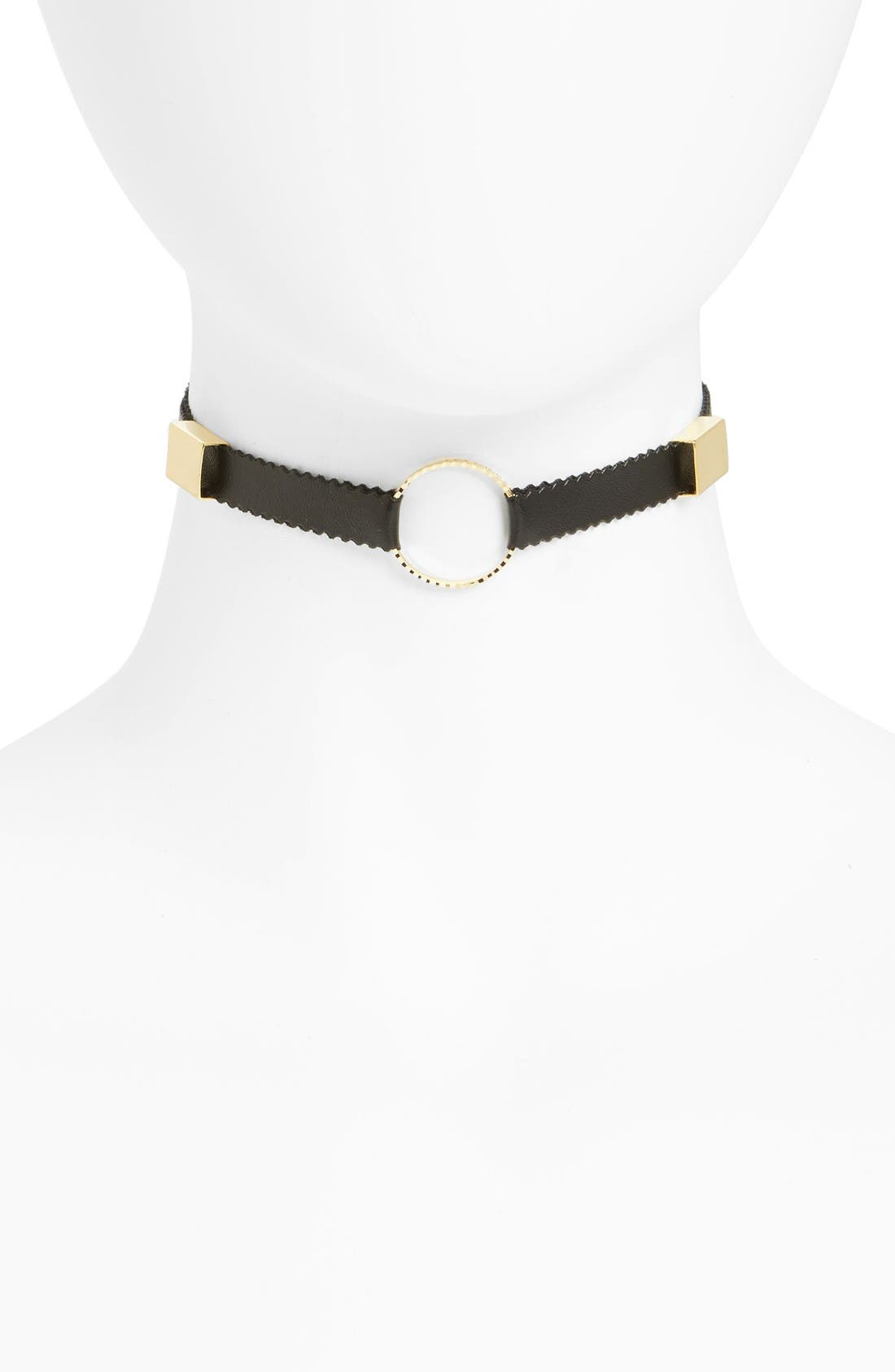 Alternate Image 1 Selected - Leith Metal Ring Choker