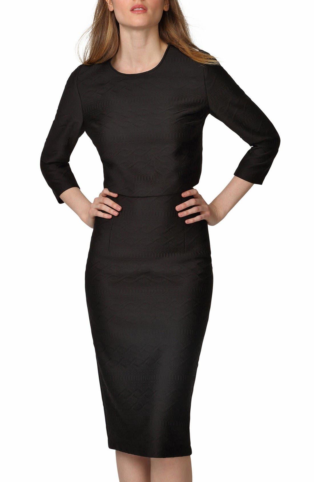 Alternate Image 3  - Donna Morgan Jacquard Two-Piece Dress