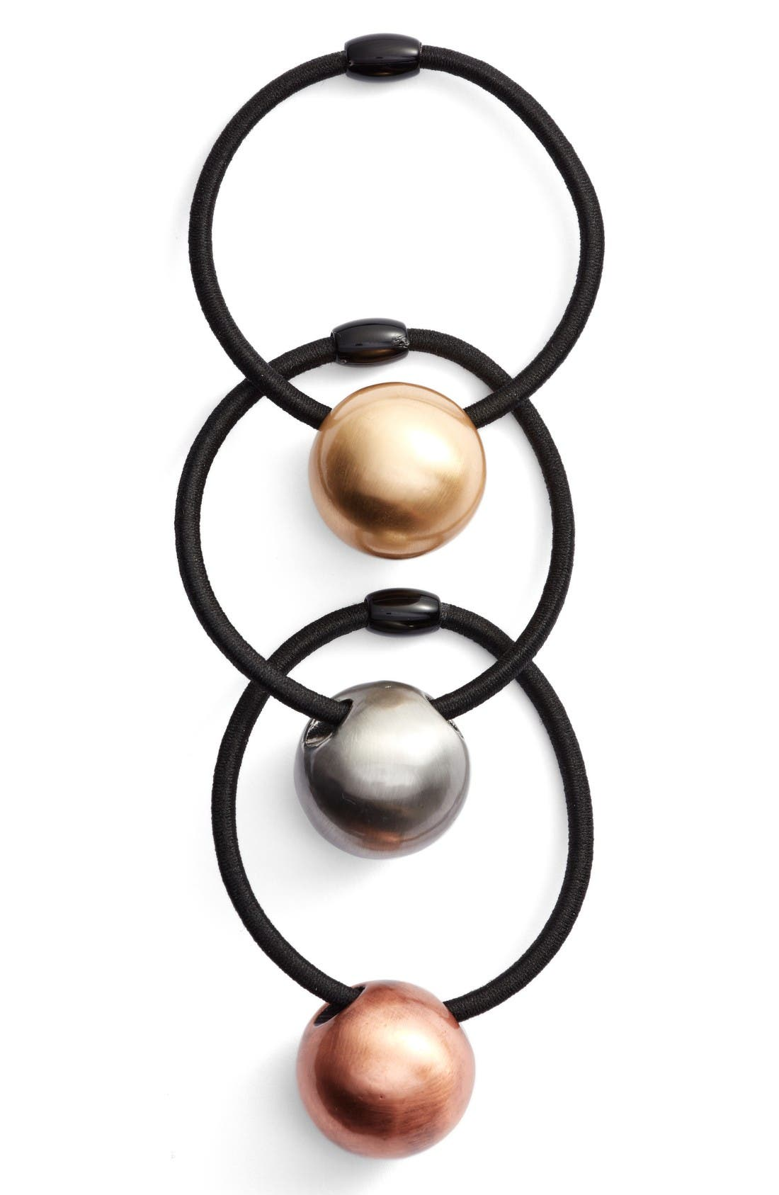 Alternate Image 1 Selected - Tasha 3-Pack Ball Charm Ponytail Holders