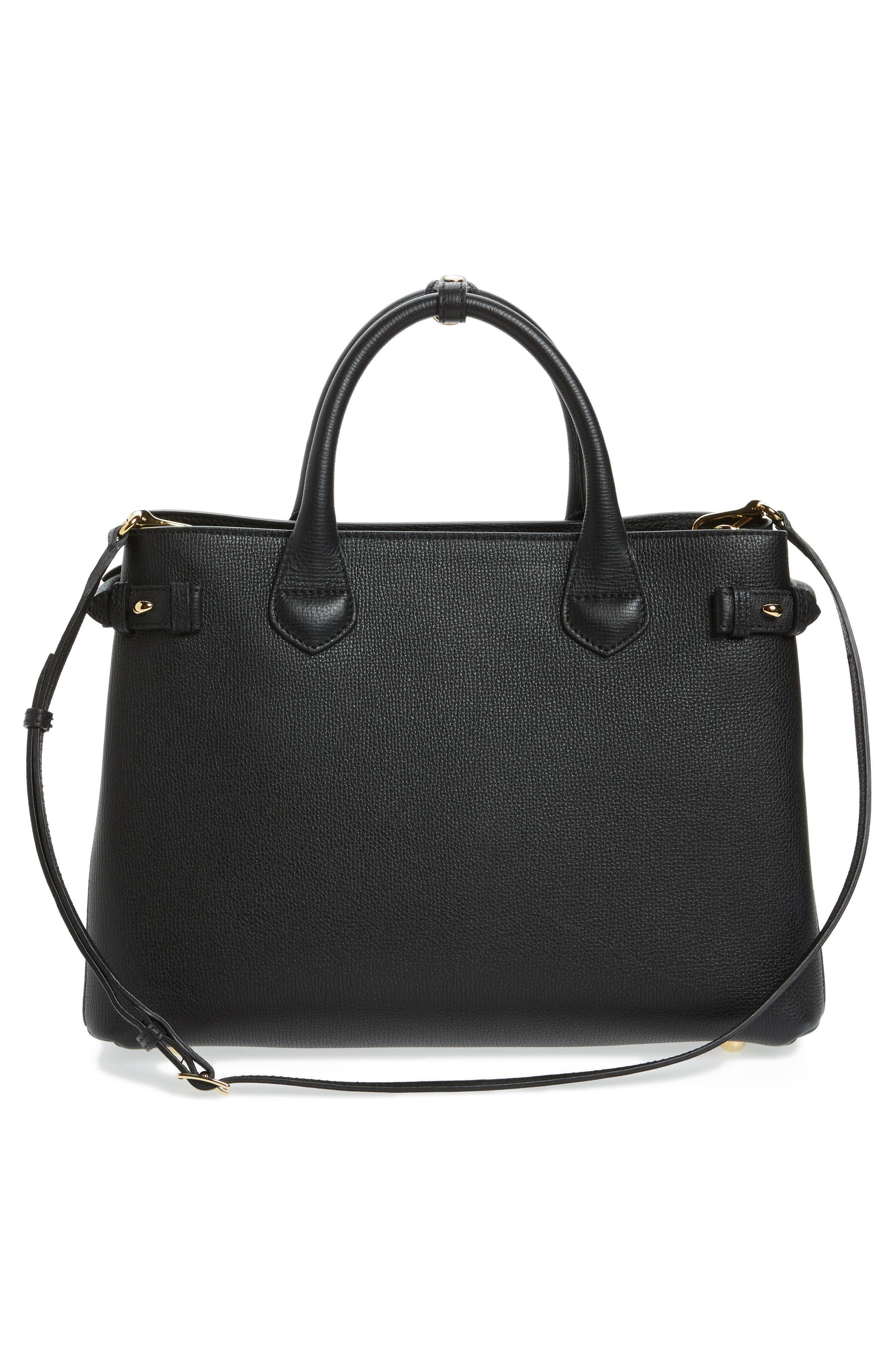 Alternate Image 2  - Burberry Medium Banner House Check Leather Tote