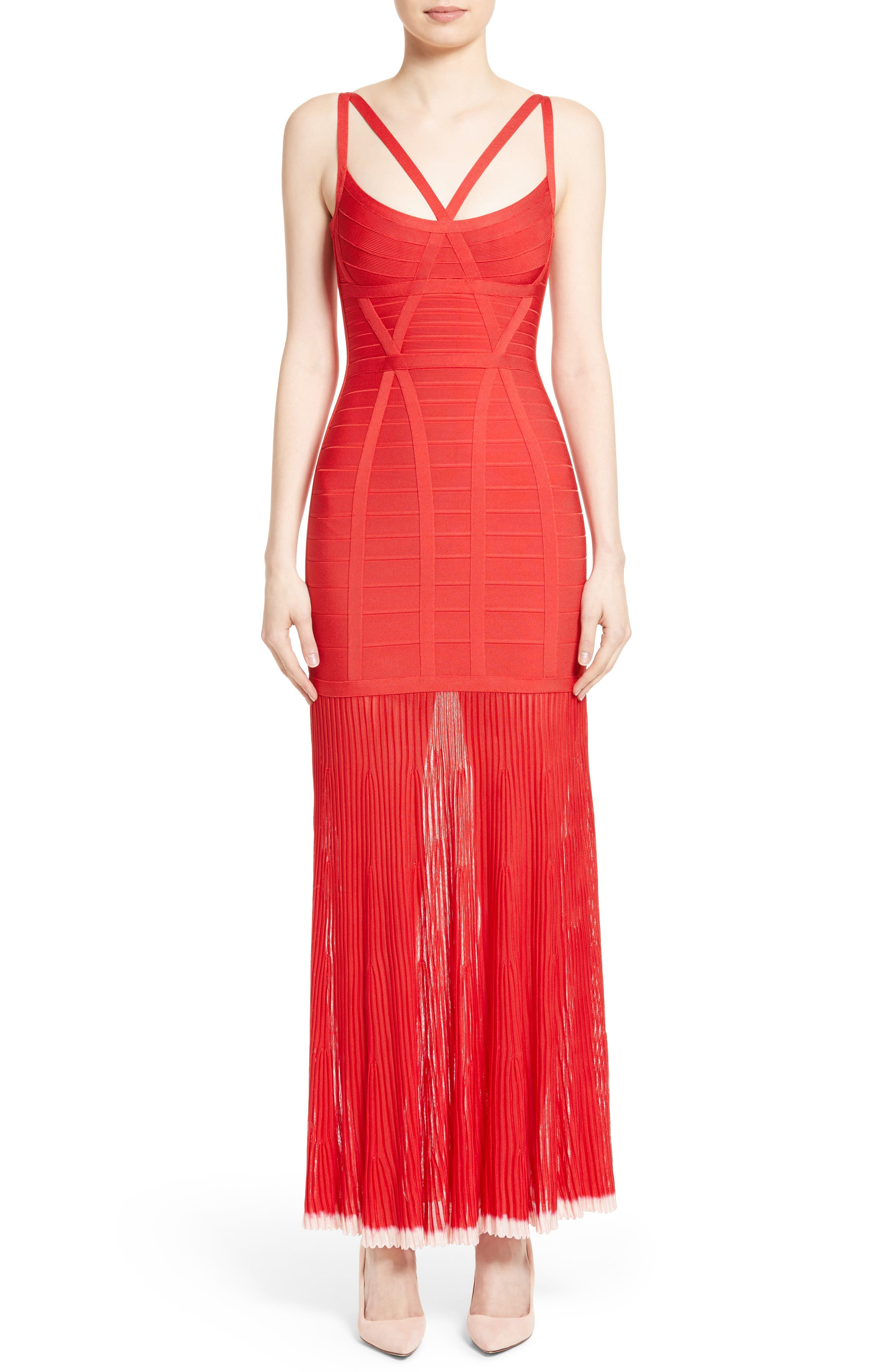 HERVE LEGER Ombré Tipped Bandage Gown