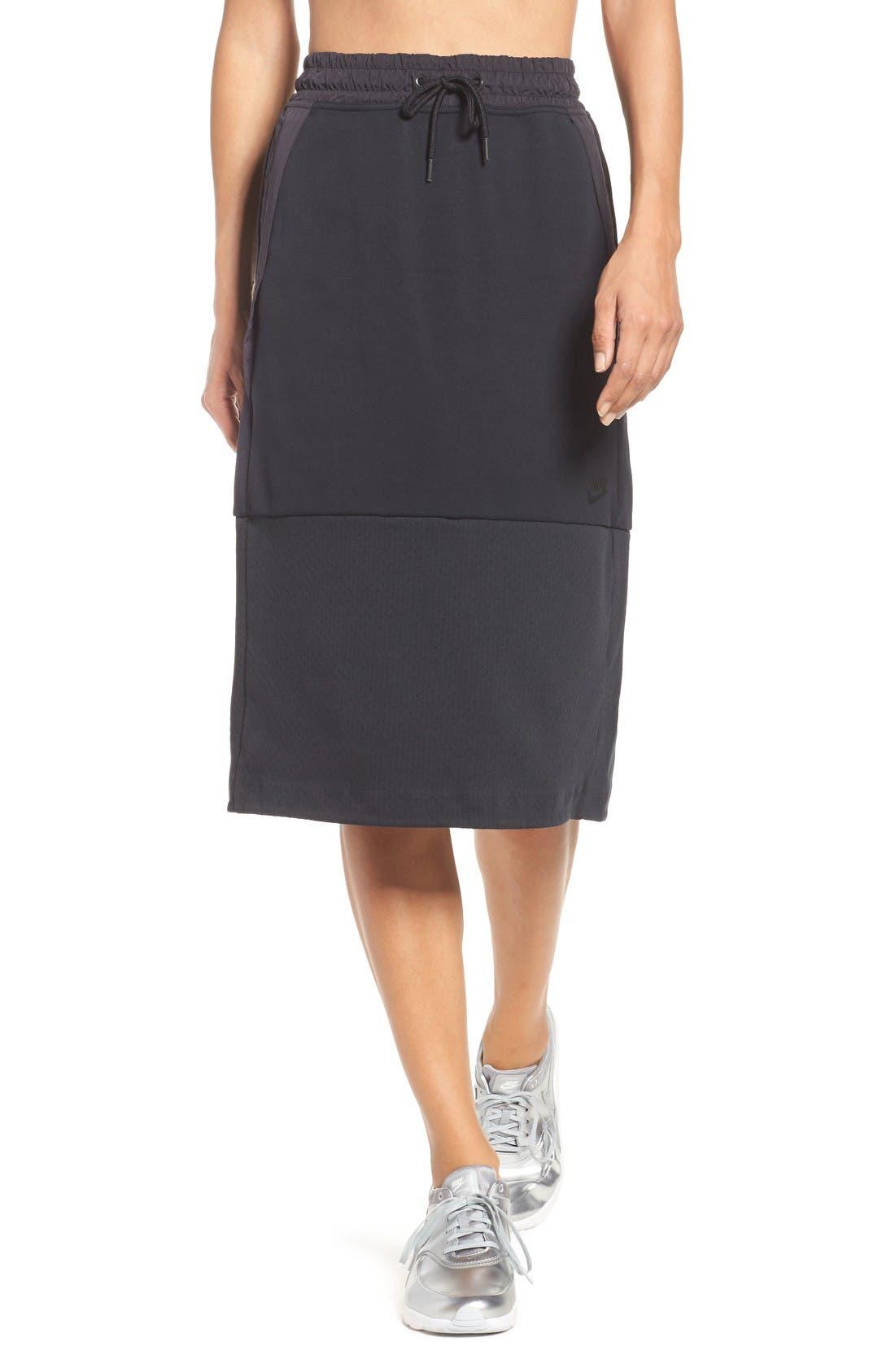 Alternate Image 1 Selected - Nike Tech Fleece Skirt