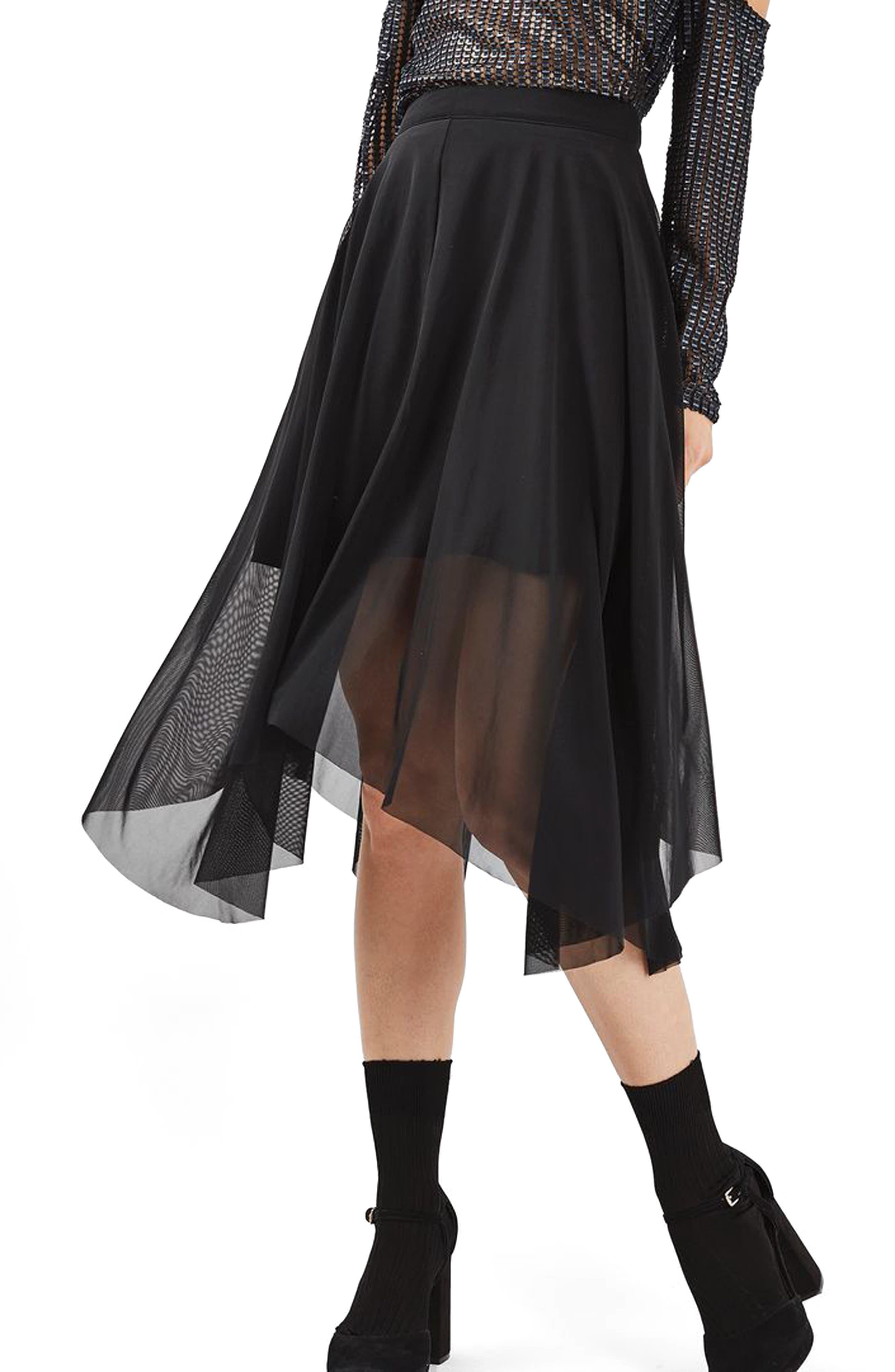 Alternate Image 1 Selected - Topshop Tulle Midi Skirt