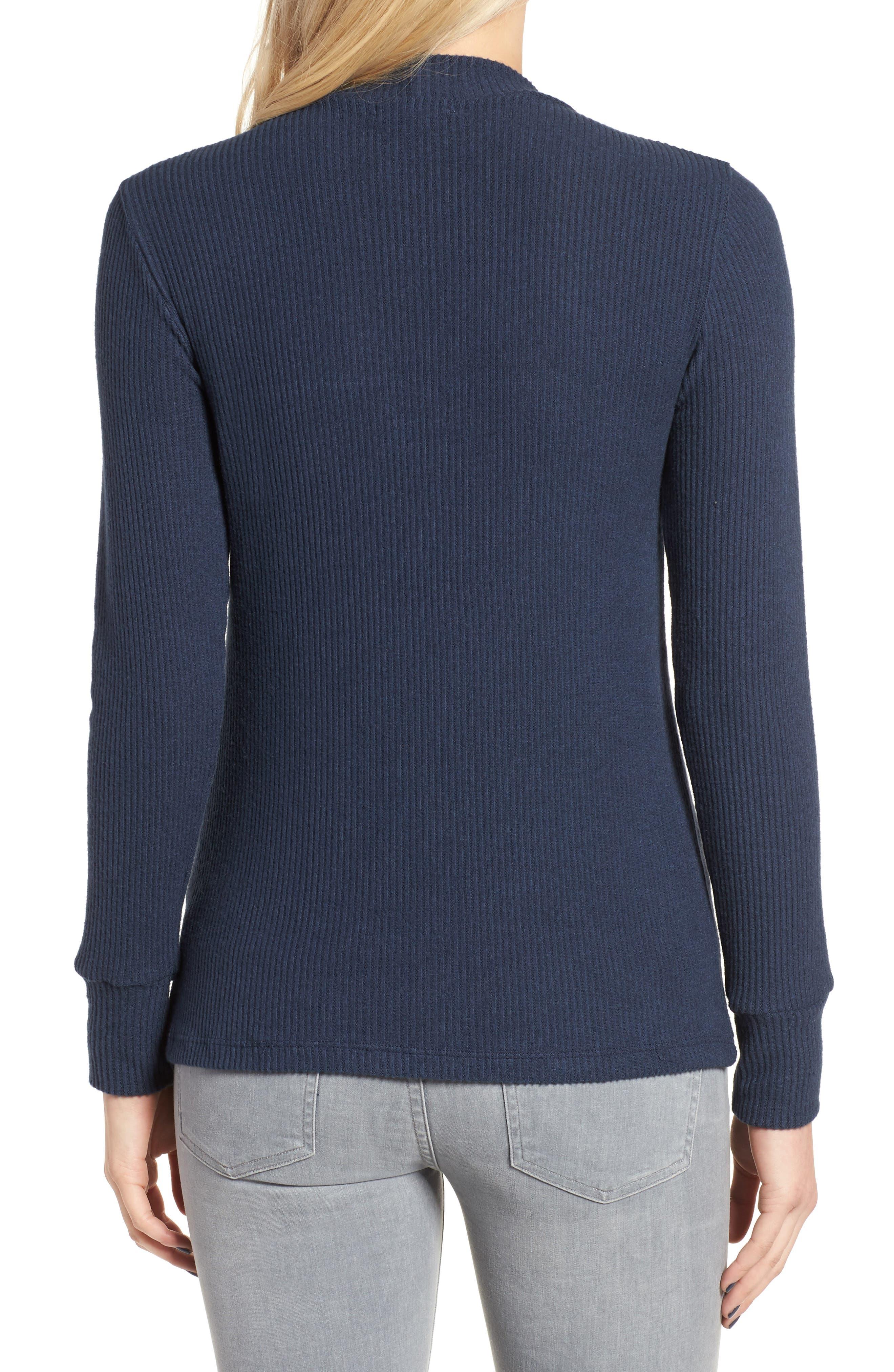 Alternate Image 2  - LNA Bardot Cutout Sweater