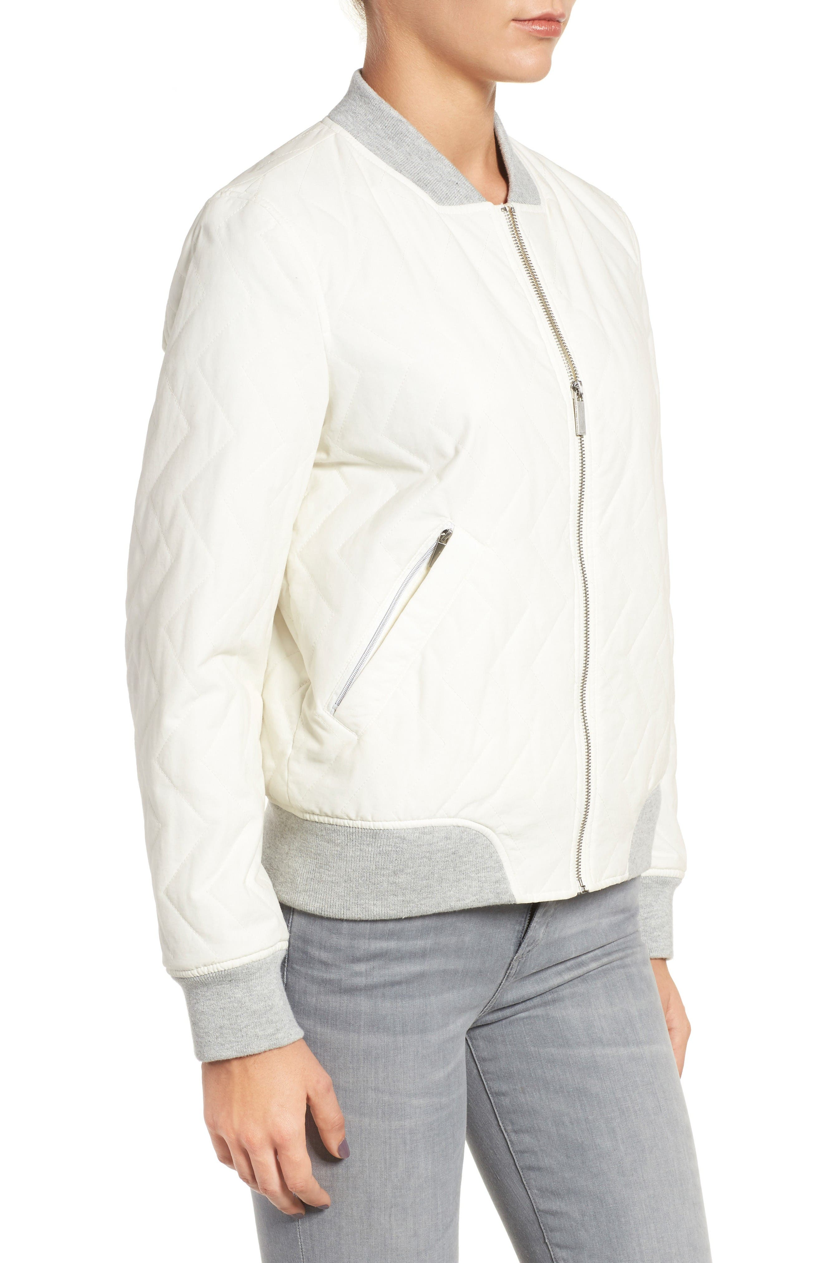 Alternate Image 3  - French Connection Quilted Bomber Jacket