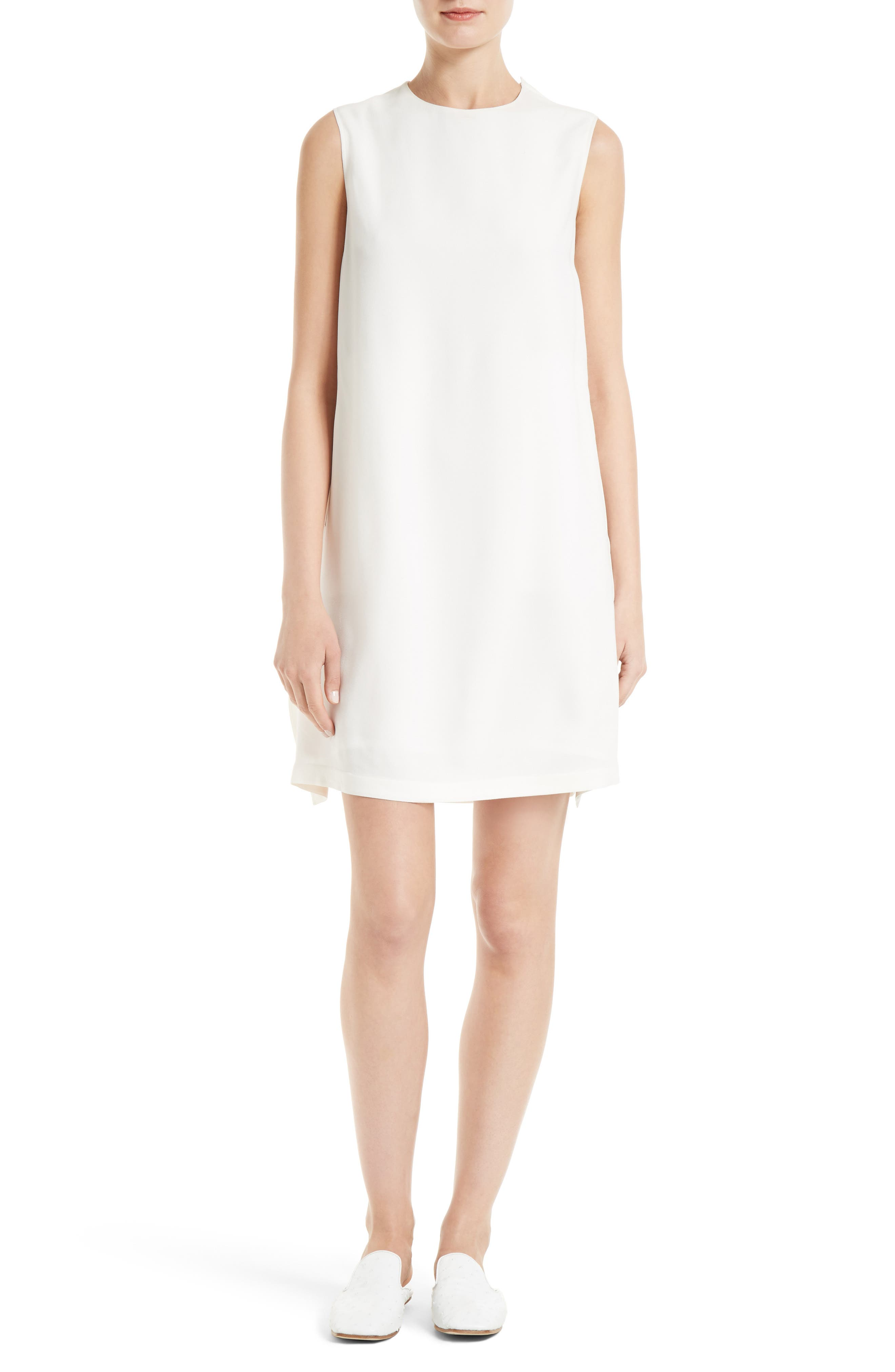 HELMUT LANG Tie Back Crepe Dress