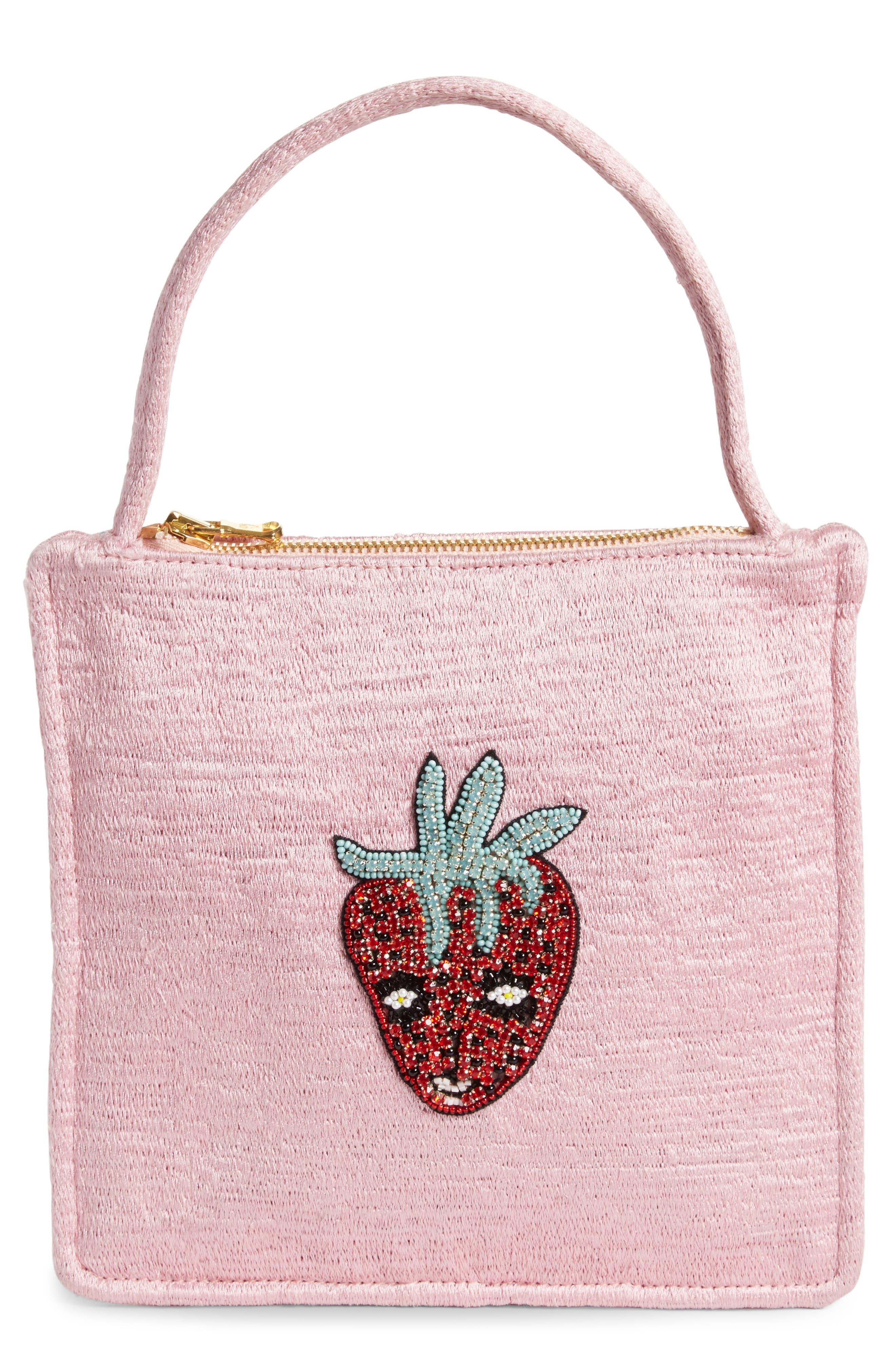 SHRIMPS Adela Embellished Silk Bag