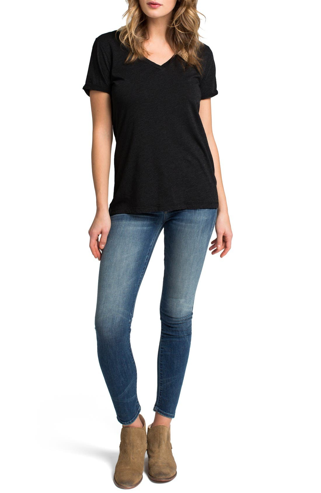 LAmade Cotton V-Neck Tee