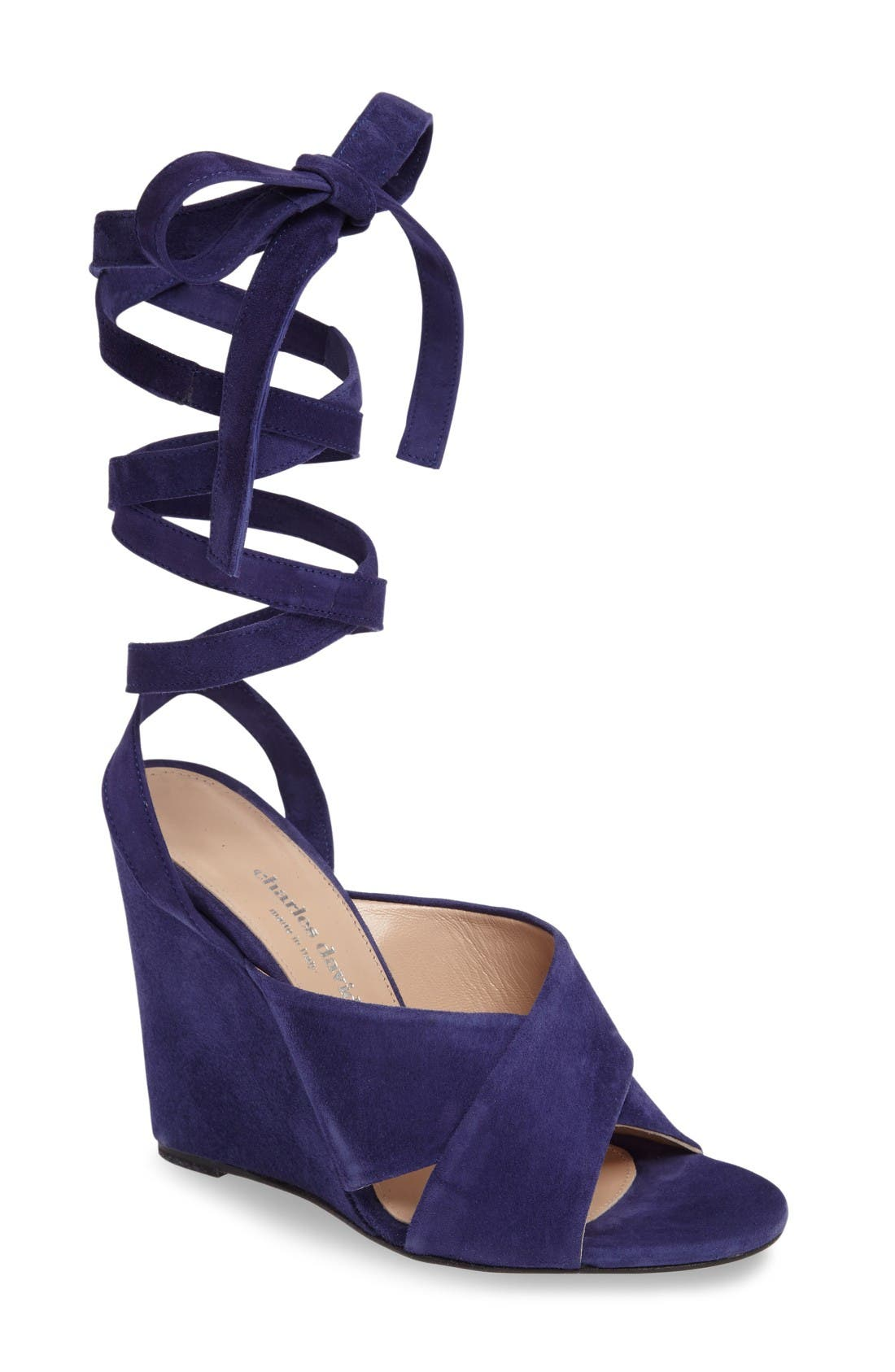 Charles David Quest Wraparound Lace Sandal (Women)