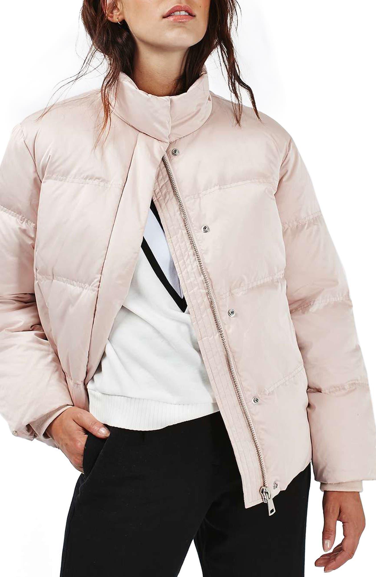 Main Image - Topshop Emily Puffer Jacket