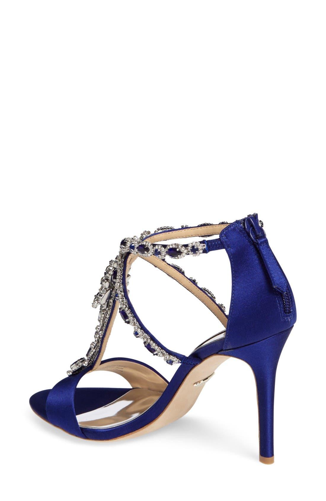 Alternate Image 2  - Badgley Mischka Georgia Crystal Embellished T-Strap Sandal (Women)