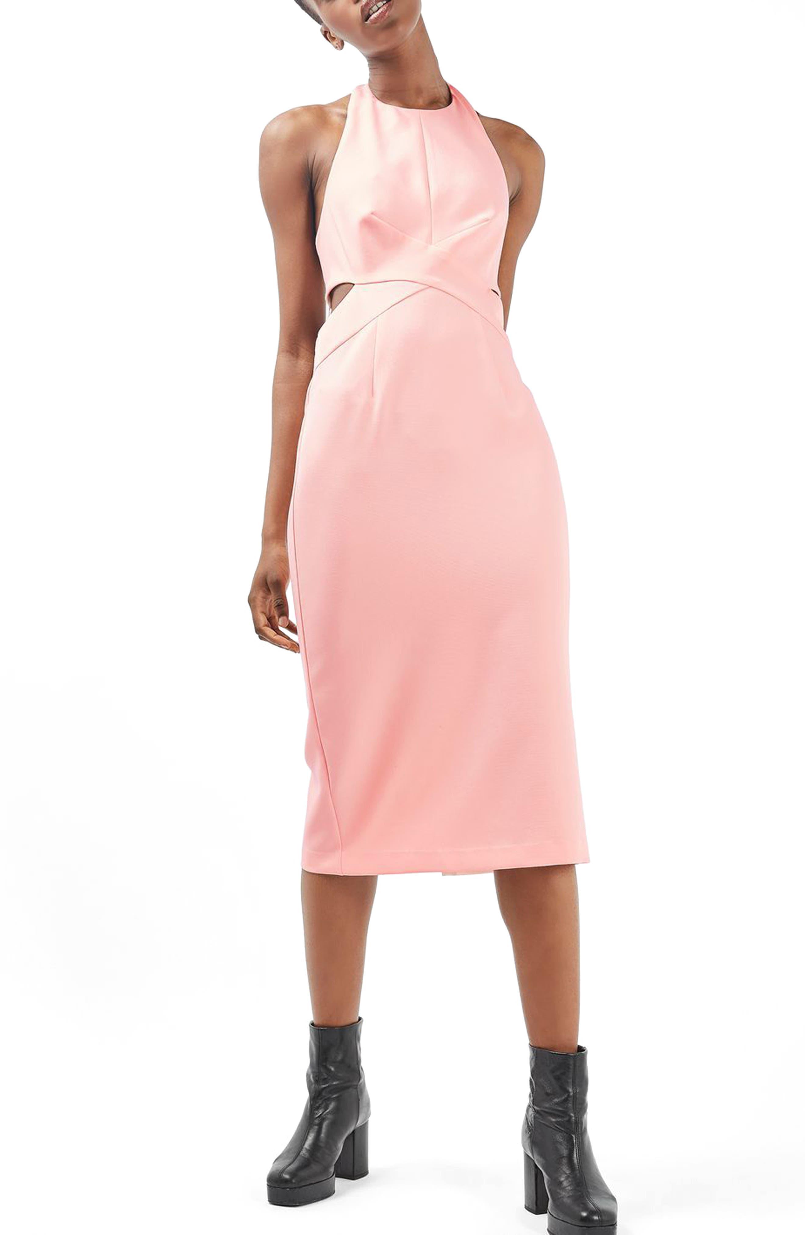Alternate Image 1 Selected - Topshop Cutout Midi Dress