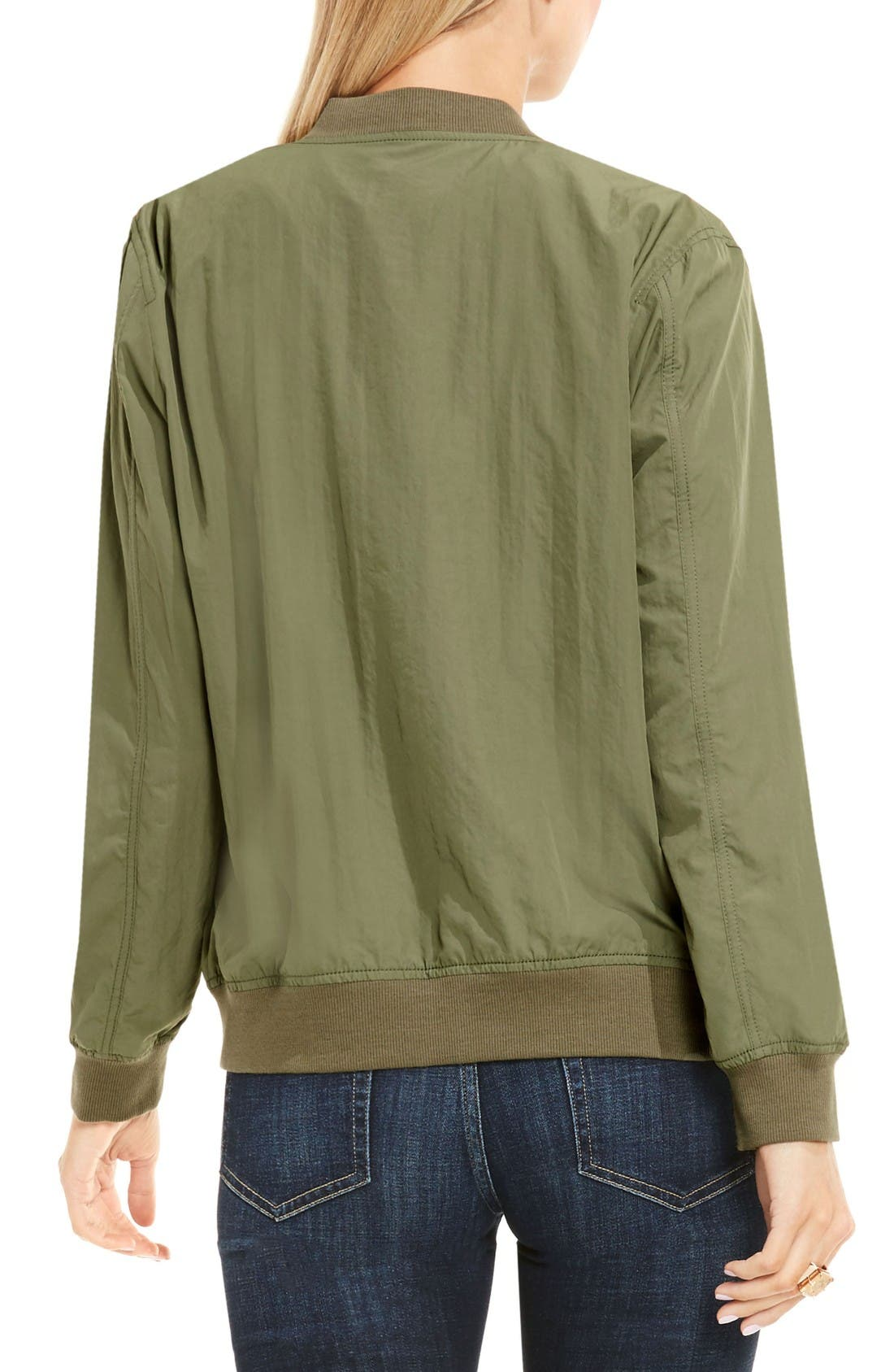 Alternate Image 2  - Two by Vince Camuto Washed Bomber Jacket