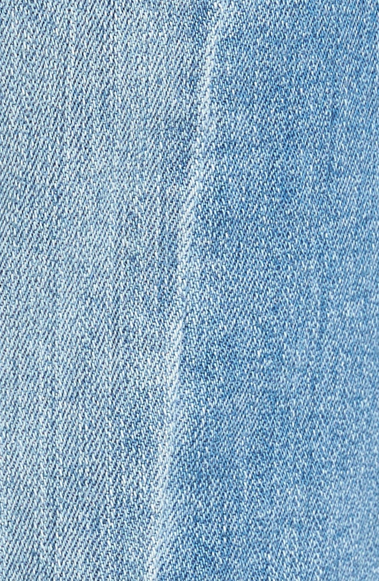 Alternate Image 5  - BP. Straight Colorblock Jeans
