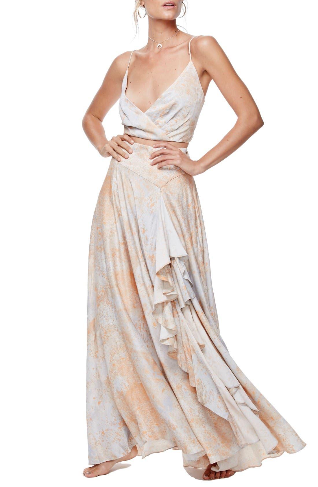 Alternate Image 1 Selected - Free People Gardenia Two-Piece Maxi Dress